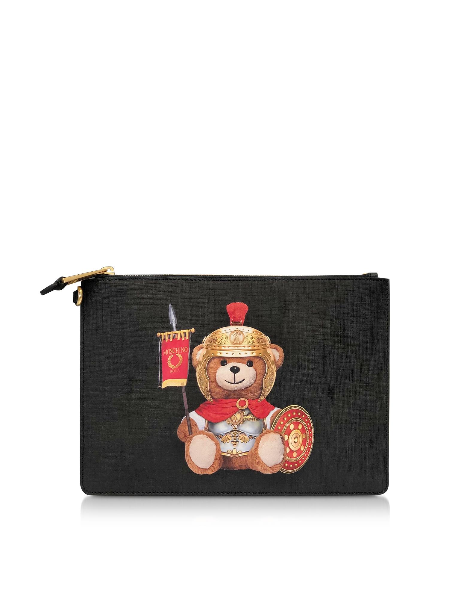 UPC 820771815005 product image for Moschino Designer Handbags, Roman Teddy Bear Flat Clutch w/Wristlet | upcitemdb.com