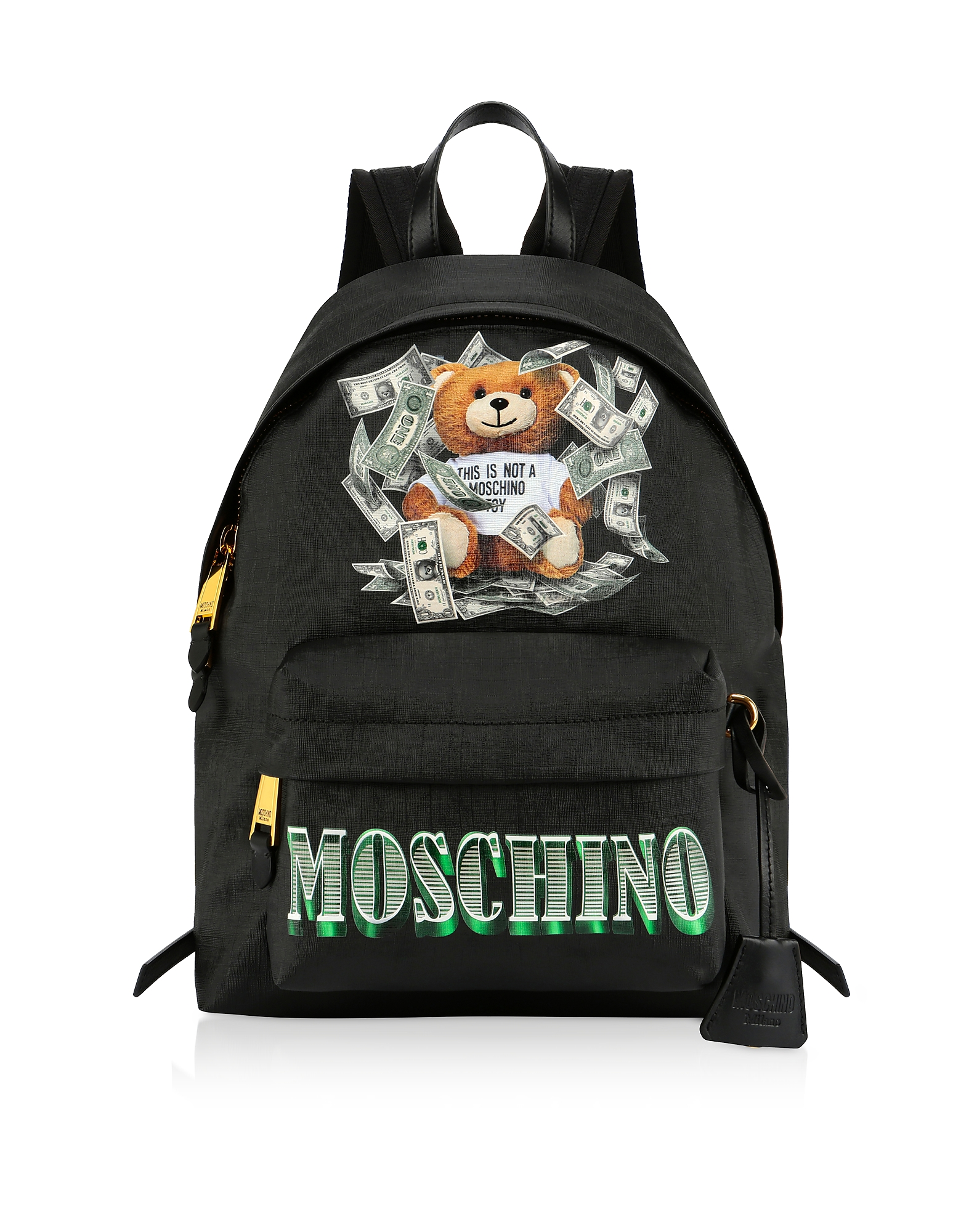 UPC 657536150909 product image for Moschino Designer Handbags, Dollar Teddy Bear Black Backpack | upcitemdb.com