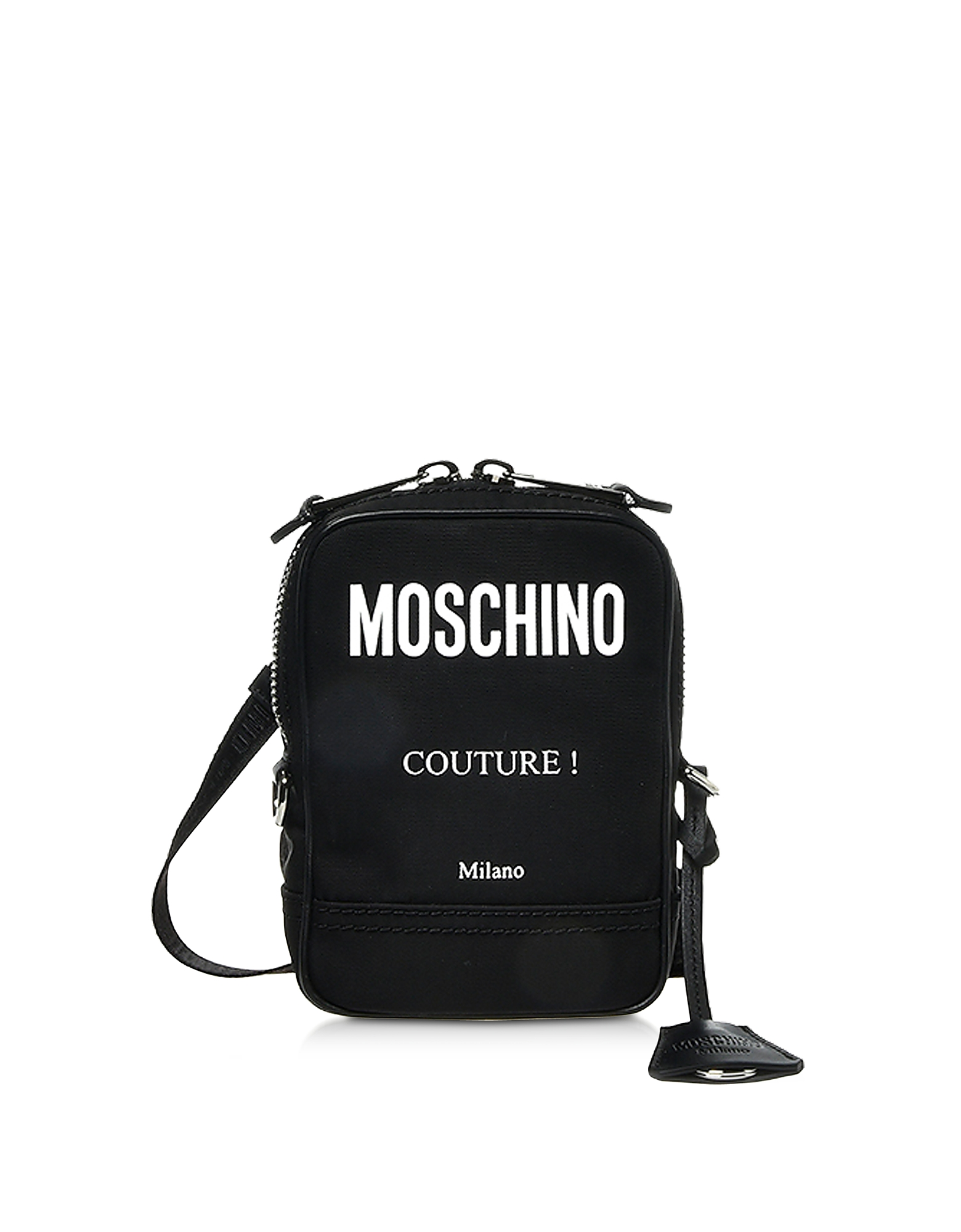 Black Nylon Couture Crossbody Bag