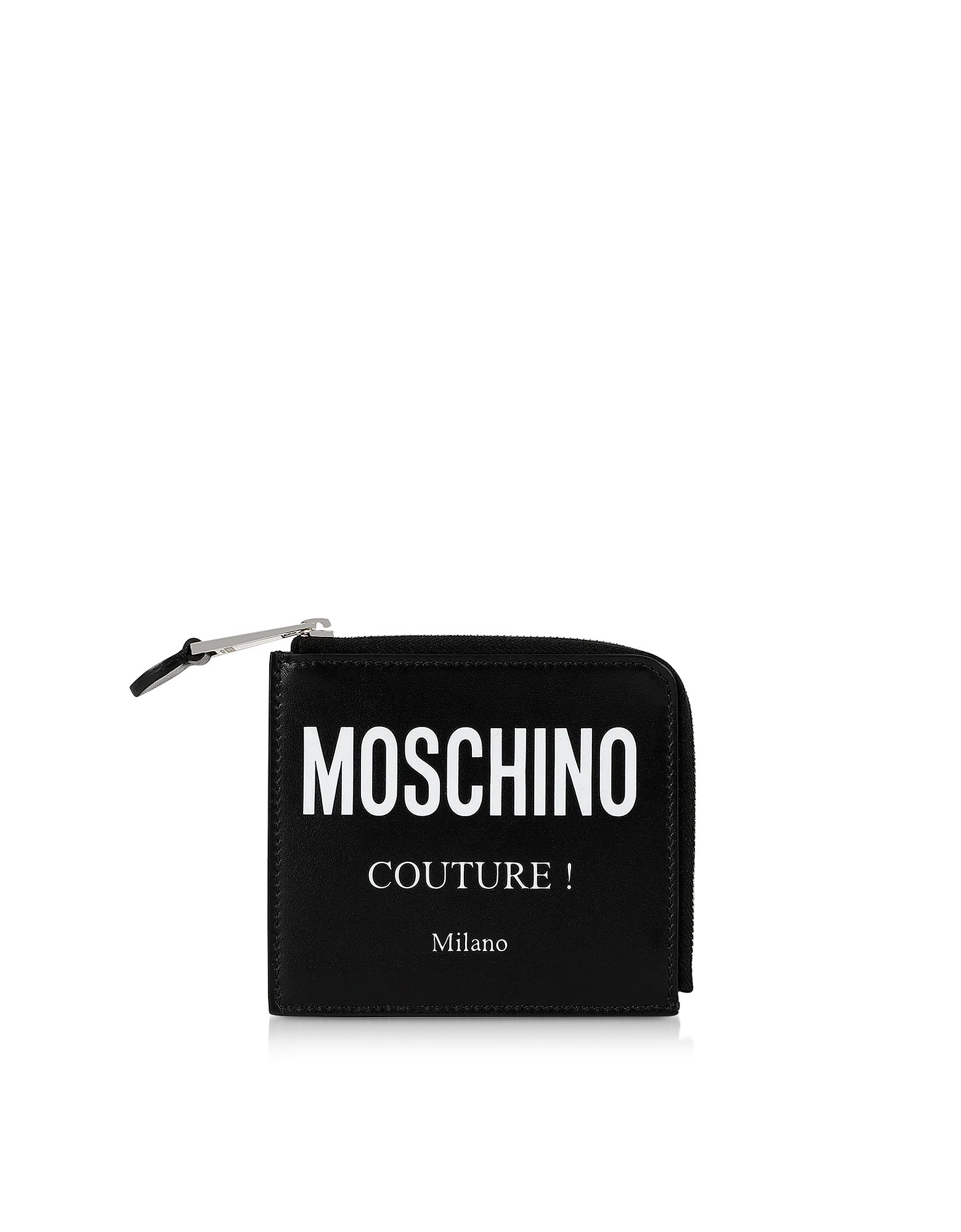 Moschino  Wallets Black Signature Zip Around Coin Purse (xm160120-003-00) photo
