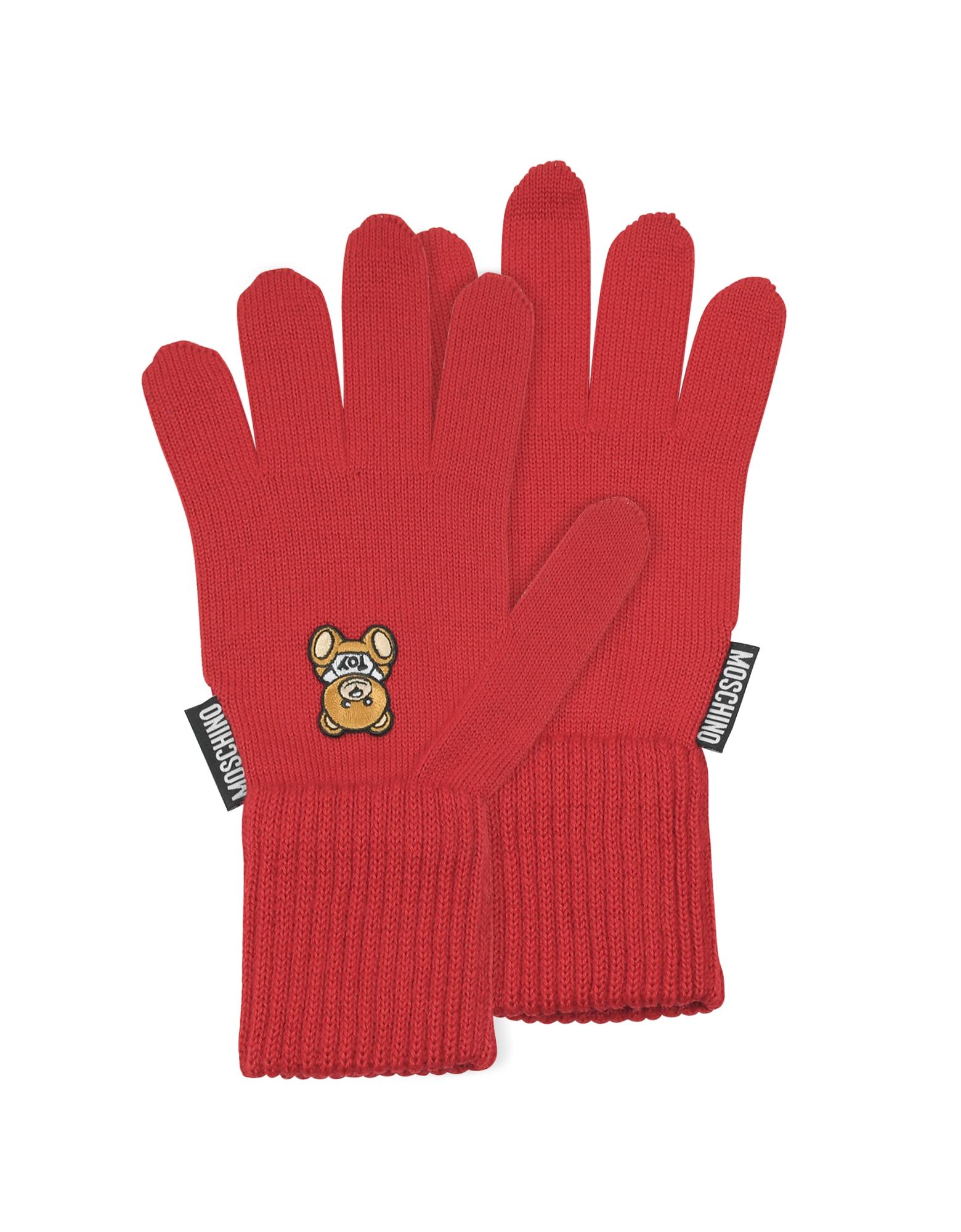 Перчатки с Принтом Moschino Toy