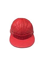 Moschino Cappello in Nappa Matelassé Rosso con Logo - moschino - it.forzieri.com