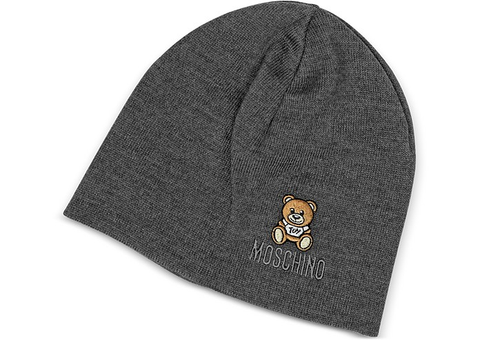 Solid Wool Teddy Bear Hat - Moschino