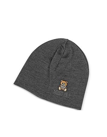 Moschino - Solid Wool Teddy Bear Hat