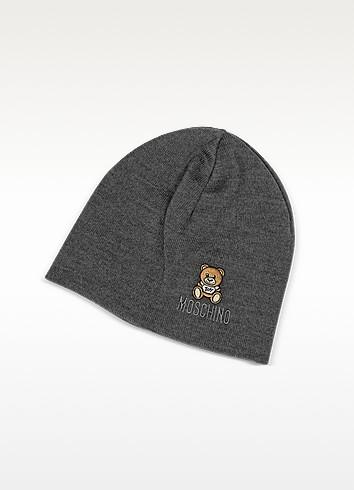 Solid Wool Teddy Bear Hat - Moschino