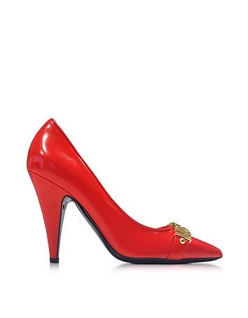 Pantofi de damă MOSCHINO Red Signature, cu toc înalt