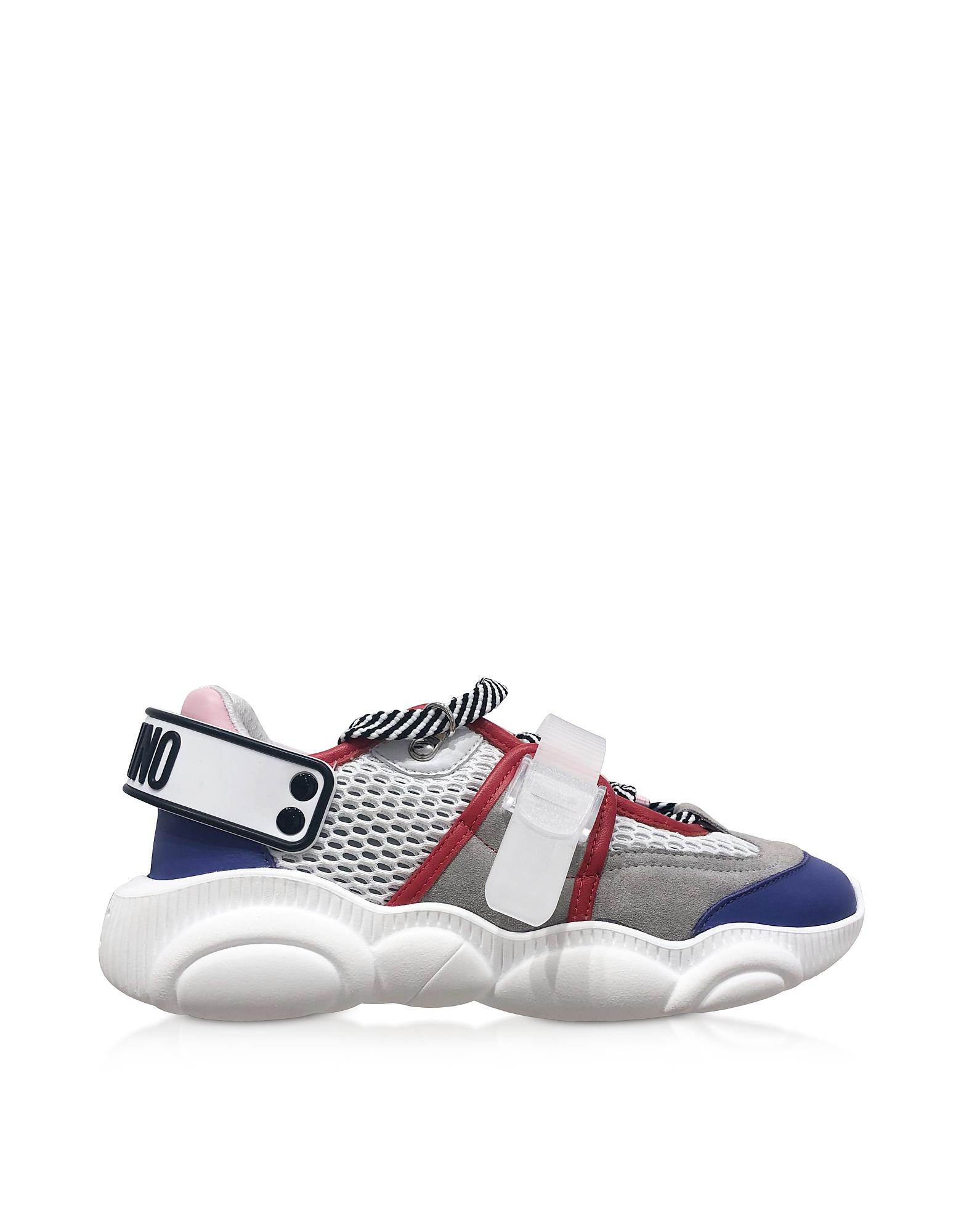 Signature Oversize Strap Women's Teddy Sneakers, White