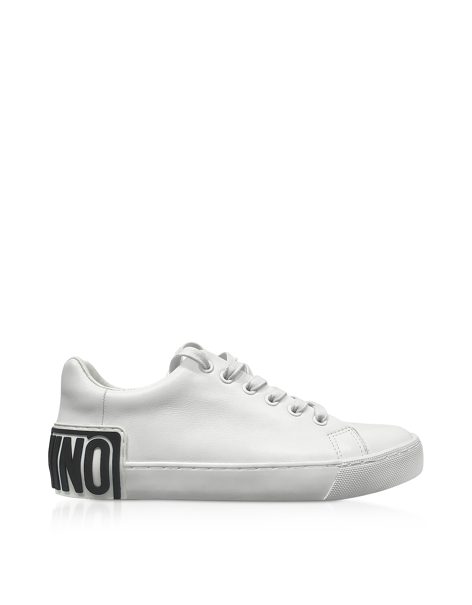 White w/Black Signature Women's Sneakers