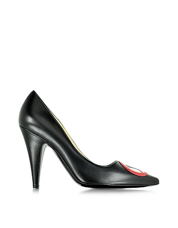 Moschino - No Heels Black Leather Pump