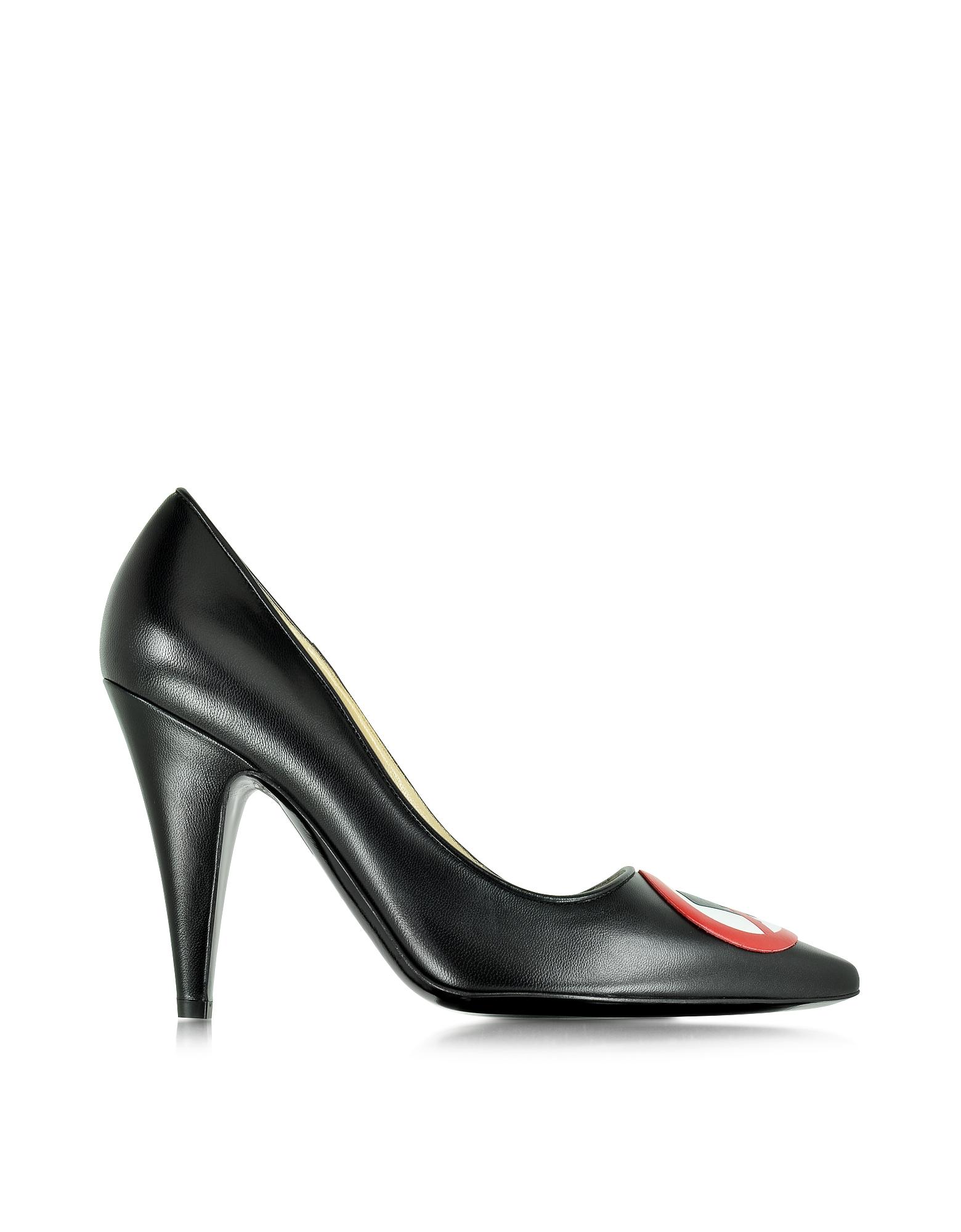 No Heels - Черные Кожаные Туфли-Лодочки