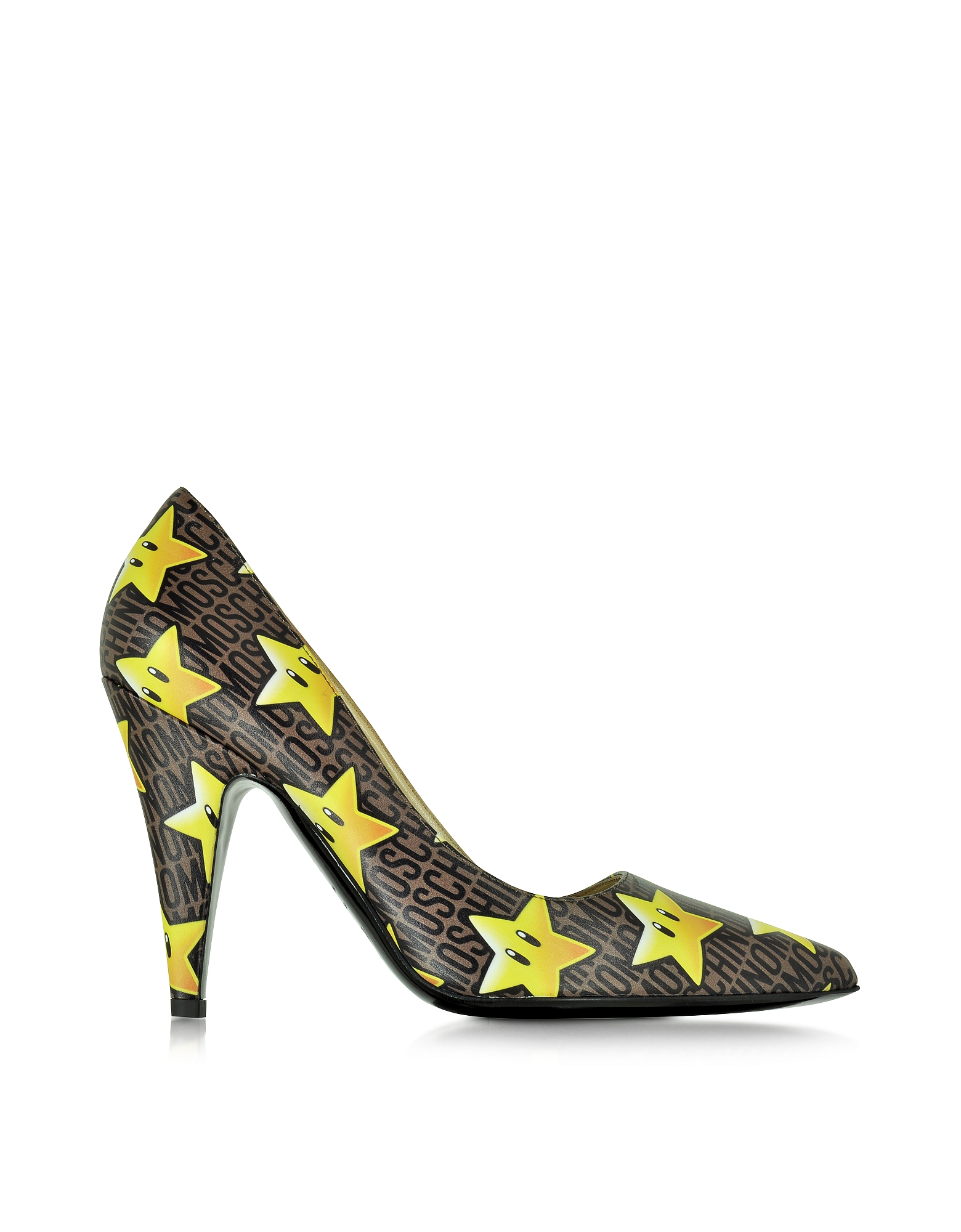 Moschino Shoes, Super Stars Leather Pump