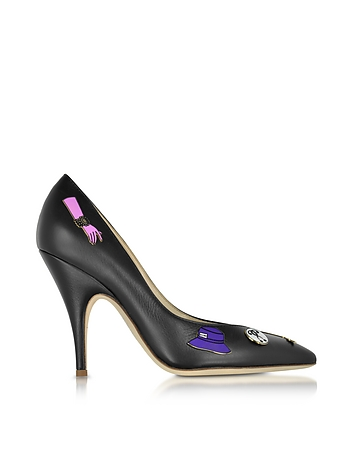 Moschino - Black Leather Pumps w/Pins