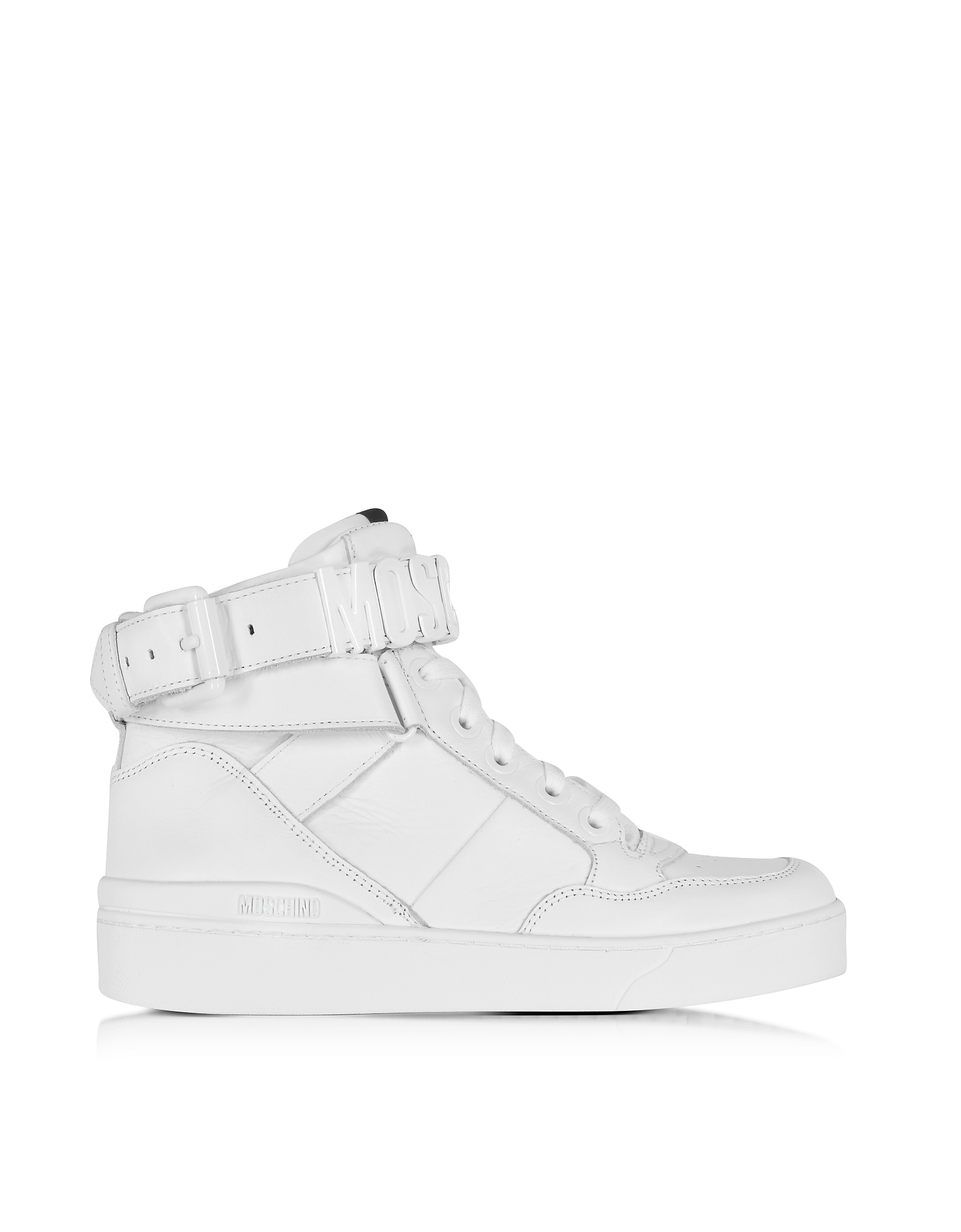 Белые Высокие Кожаные Кроссовки