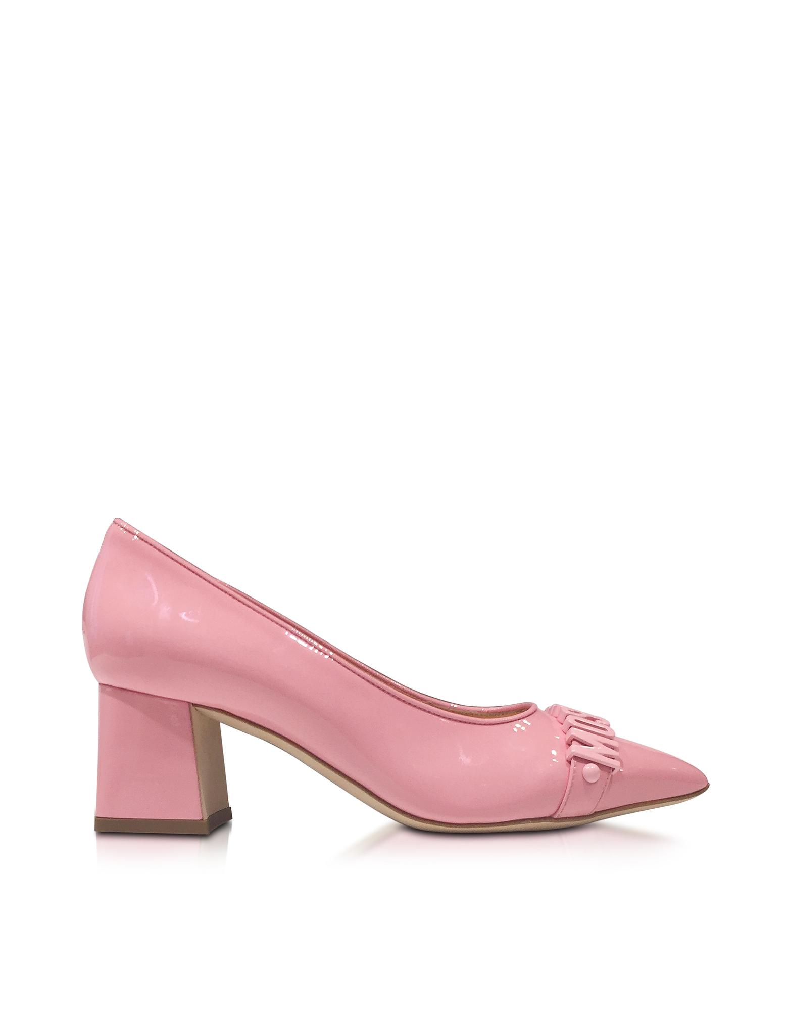 Розовые Туфли-Лодочки из Лакированной Кожи