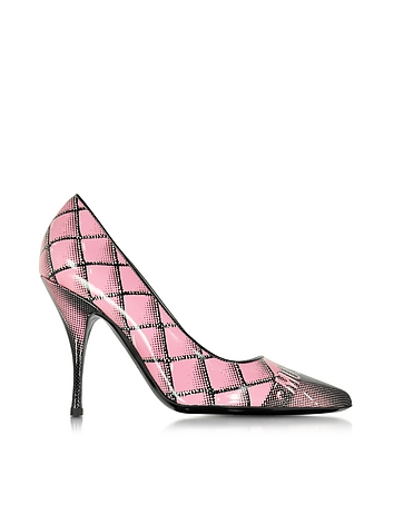 Pink Printed Leather Pump
