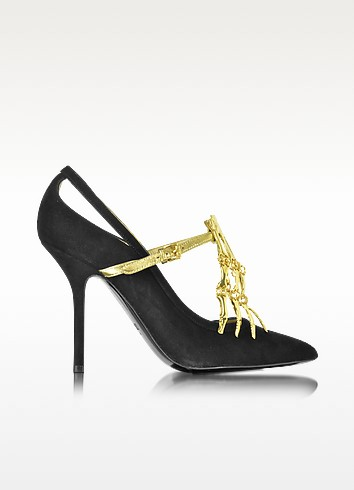 Black Suede Pump - Moschino
