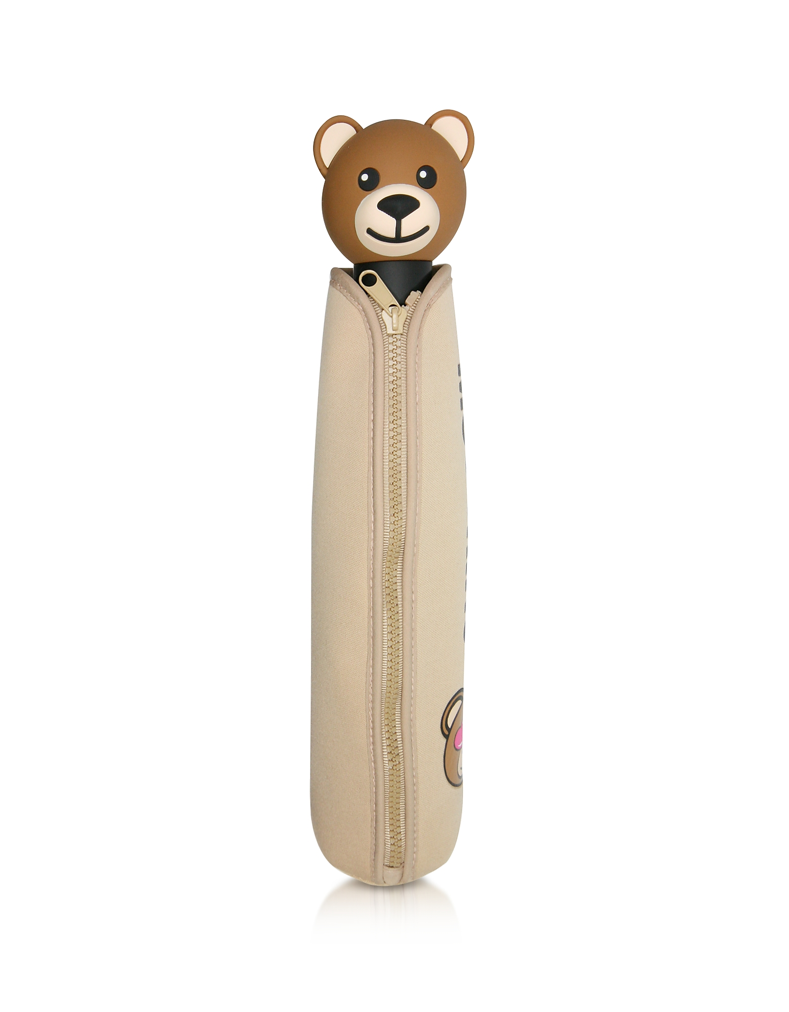 Toy in Love Dark Beige Mini Umbrella w/Teddy Handle and Neoprene Pouch от Forzieri.com INT