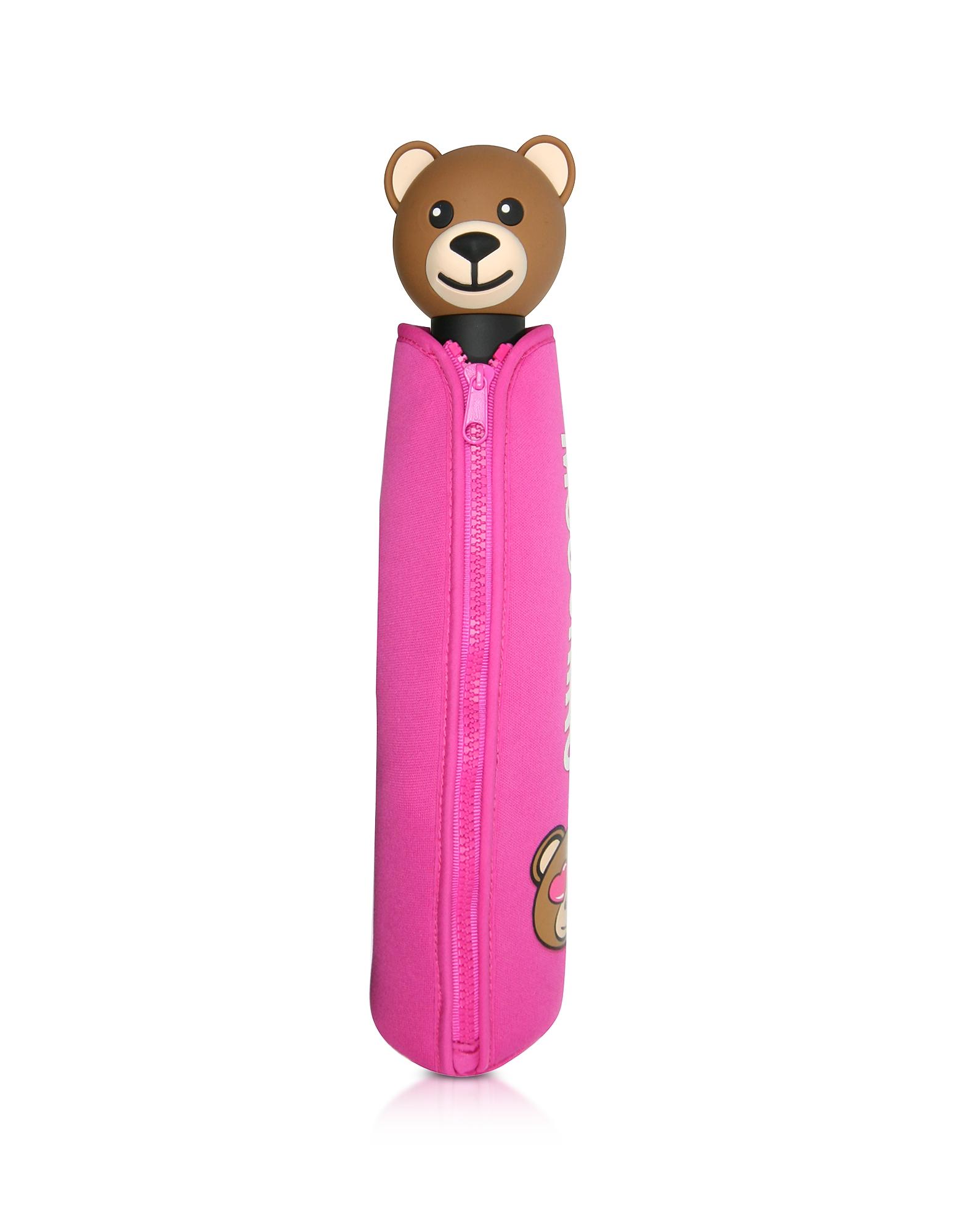 Toy in Love Fuchsia Mini Umbrella w/Teddy Handle and Neoprene Pouch от Forzieri.com INT