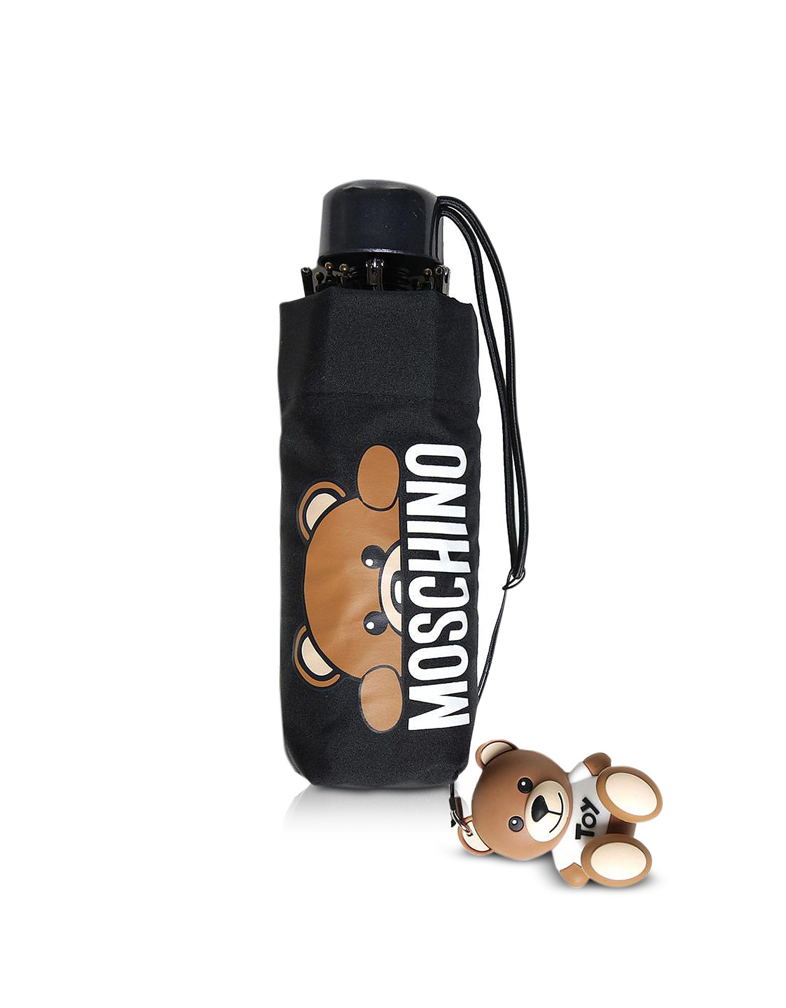Hidden Teddy Bear Black Supermini Umbrella