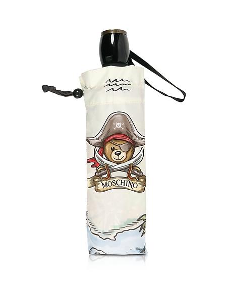 Moschino Pirate Bear Grey Umbrella