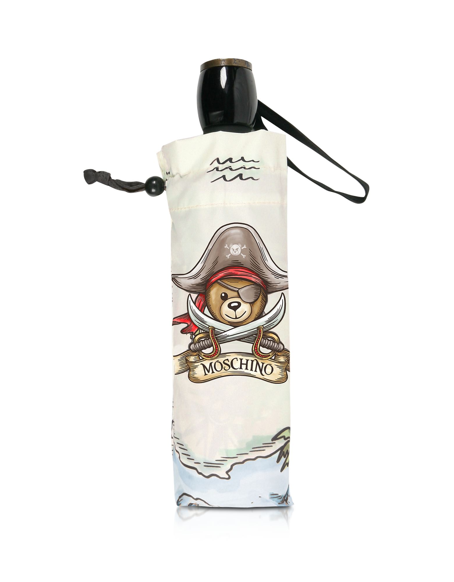 Moschino Umbrellas, Pirate Bear Grey Umbrella