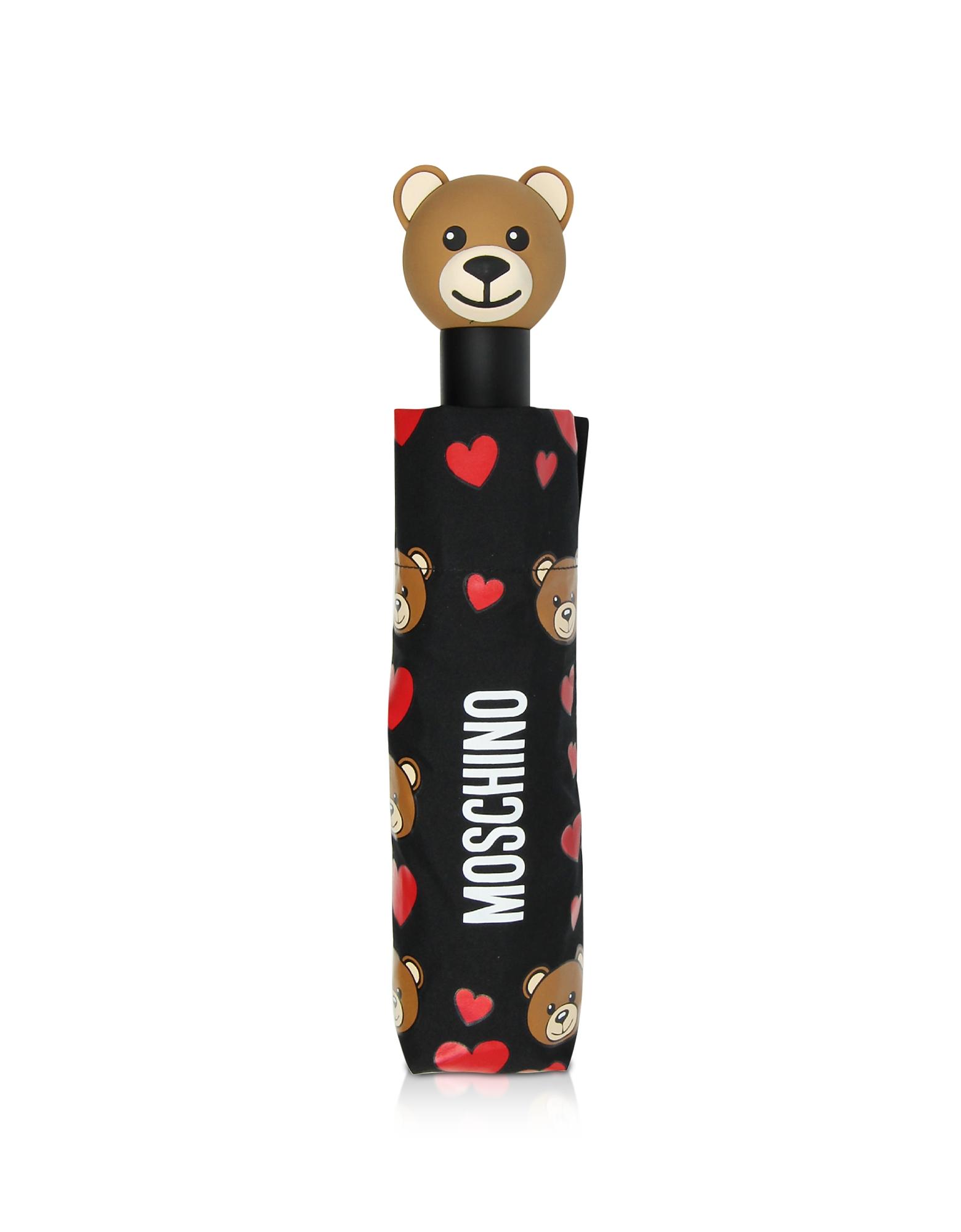 All Over Bear & Hearts Open/Close Umbrella
