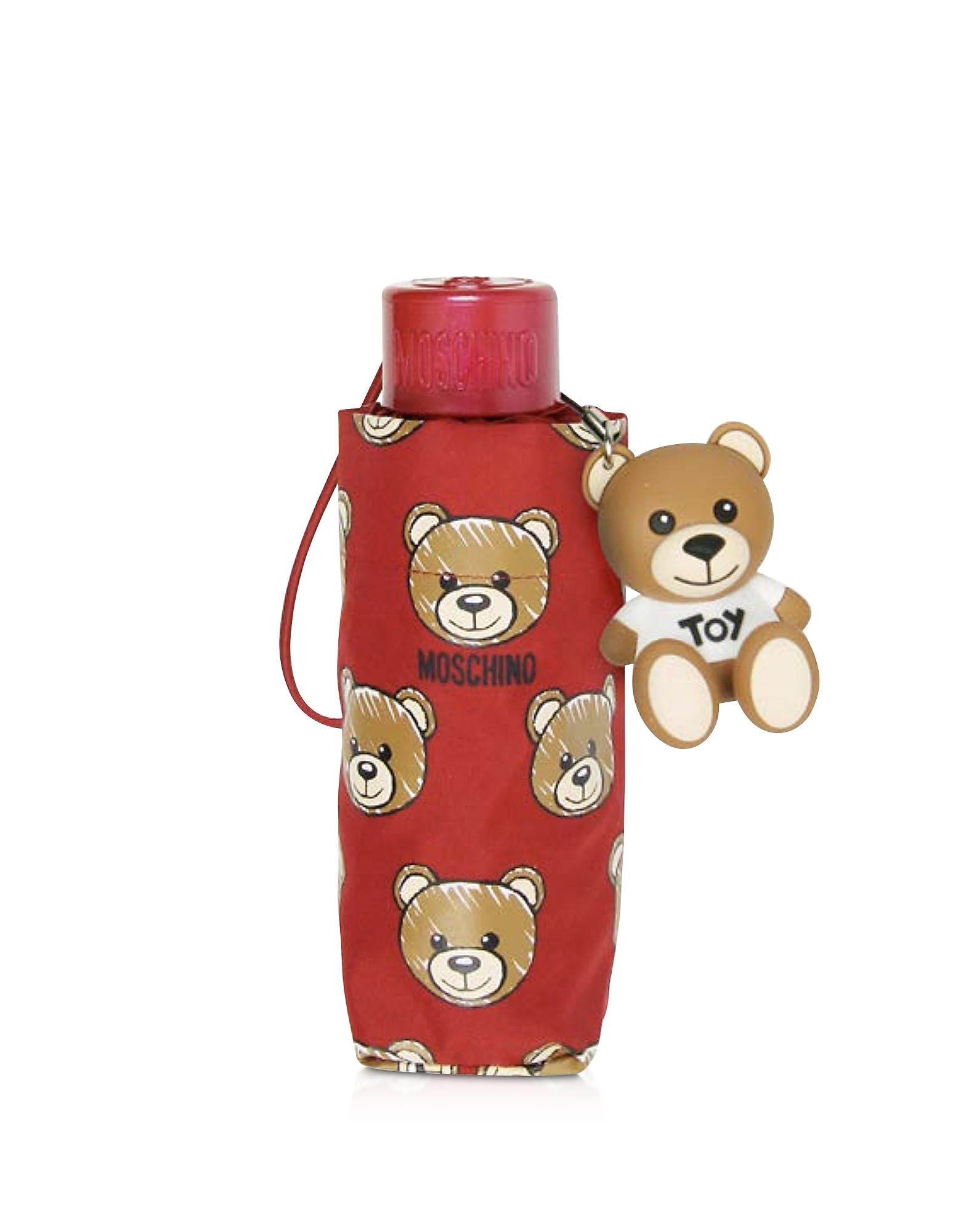 Brush Bear All-Over Print Super Mini Umbrella, Red
