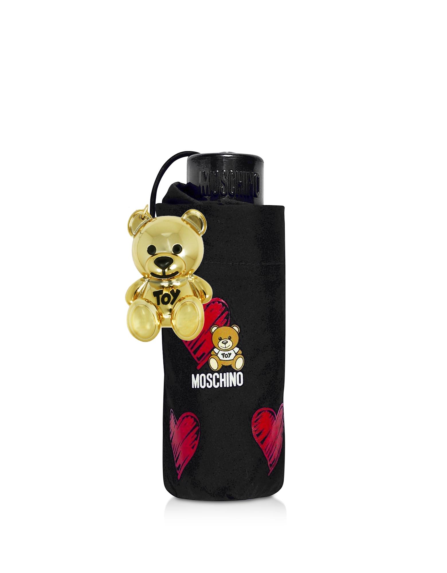 Hearts and Bears Supermini Umbrella, Black