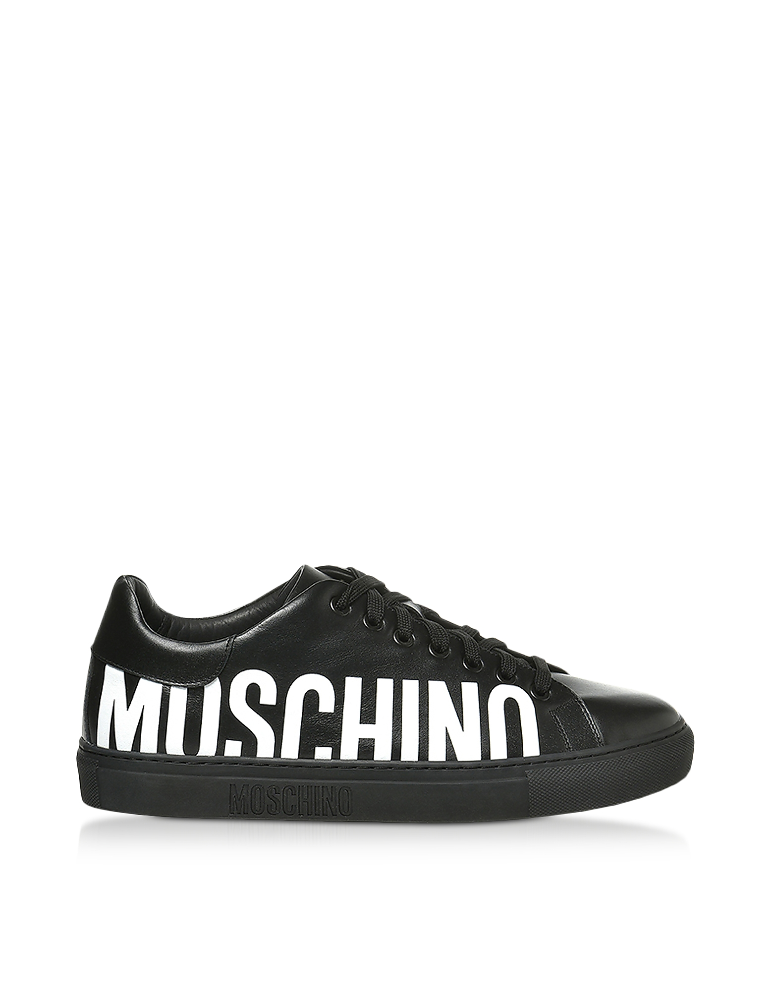 Signature Black Leather Men's Sneakers
