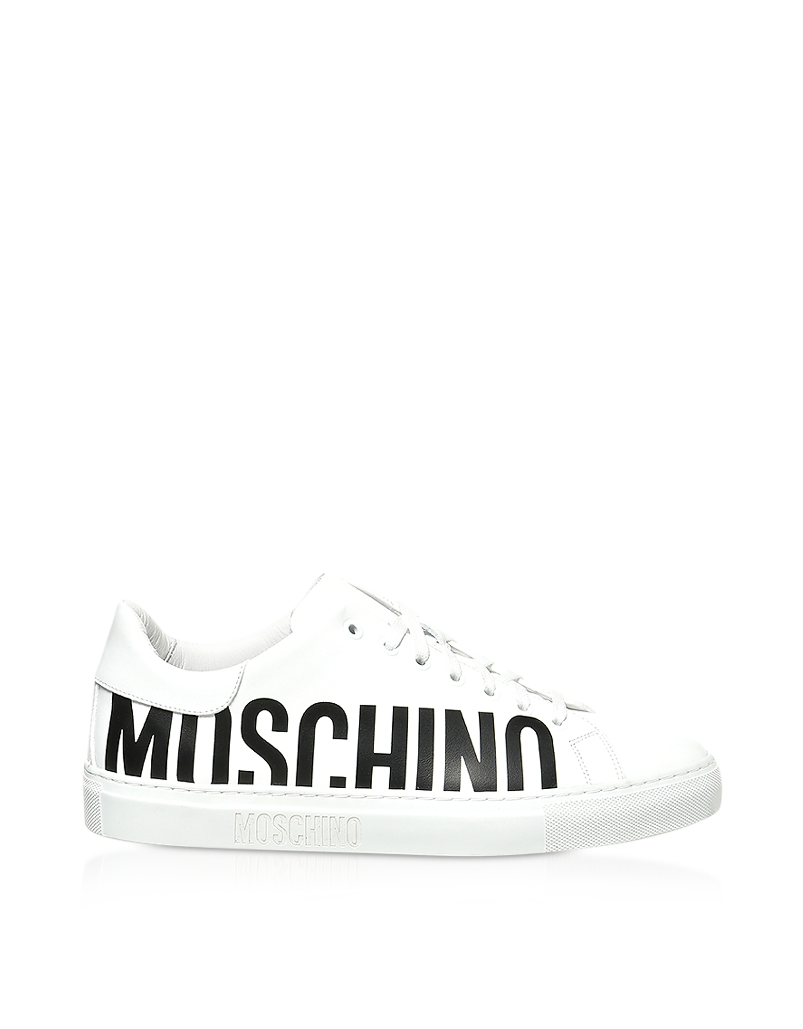 SIgnature White Leather Men's Sneakers