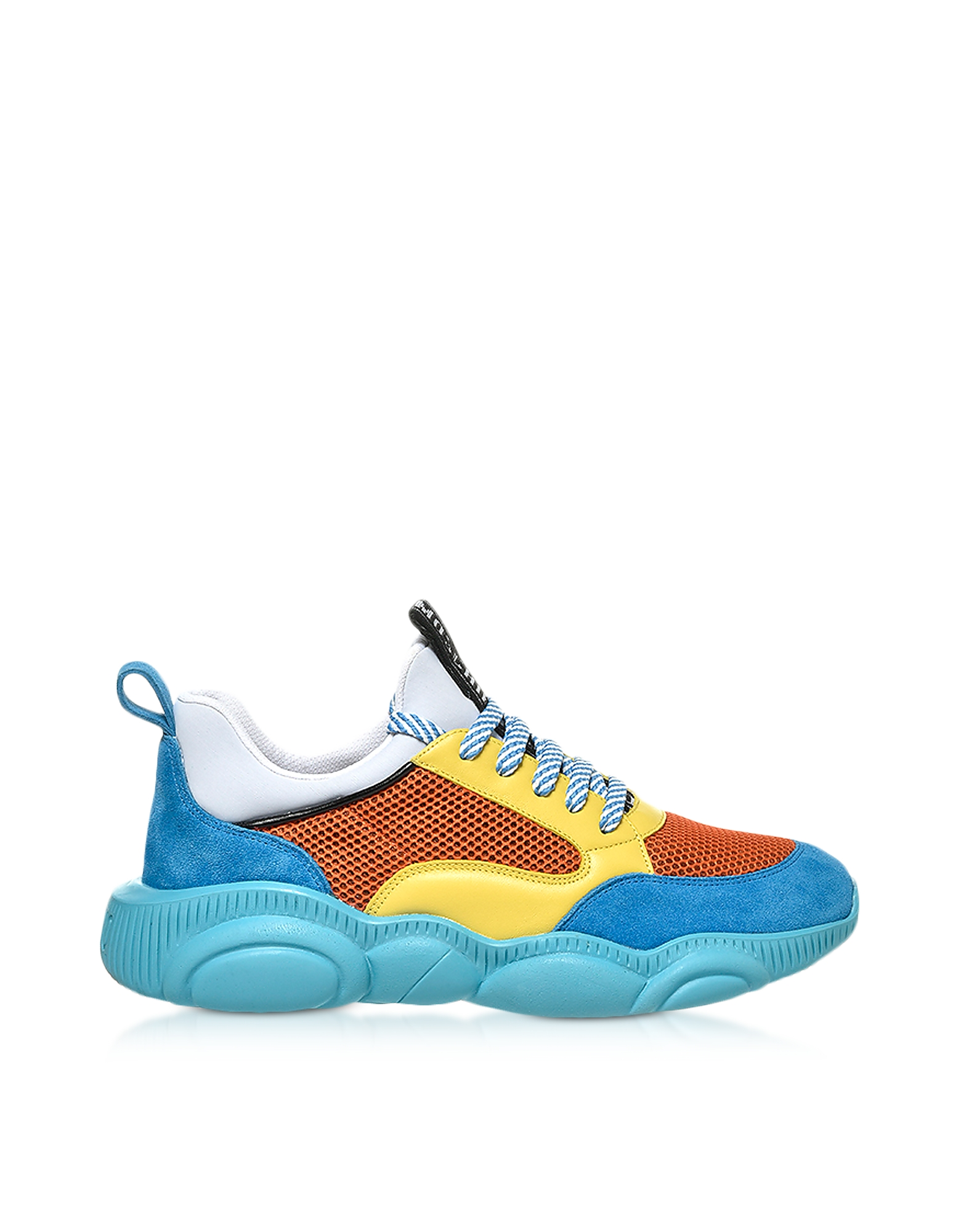 Teddy Run Color-Block Mesh and Leather Men's Sneakers, Multicolor