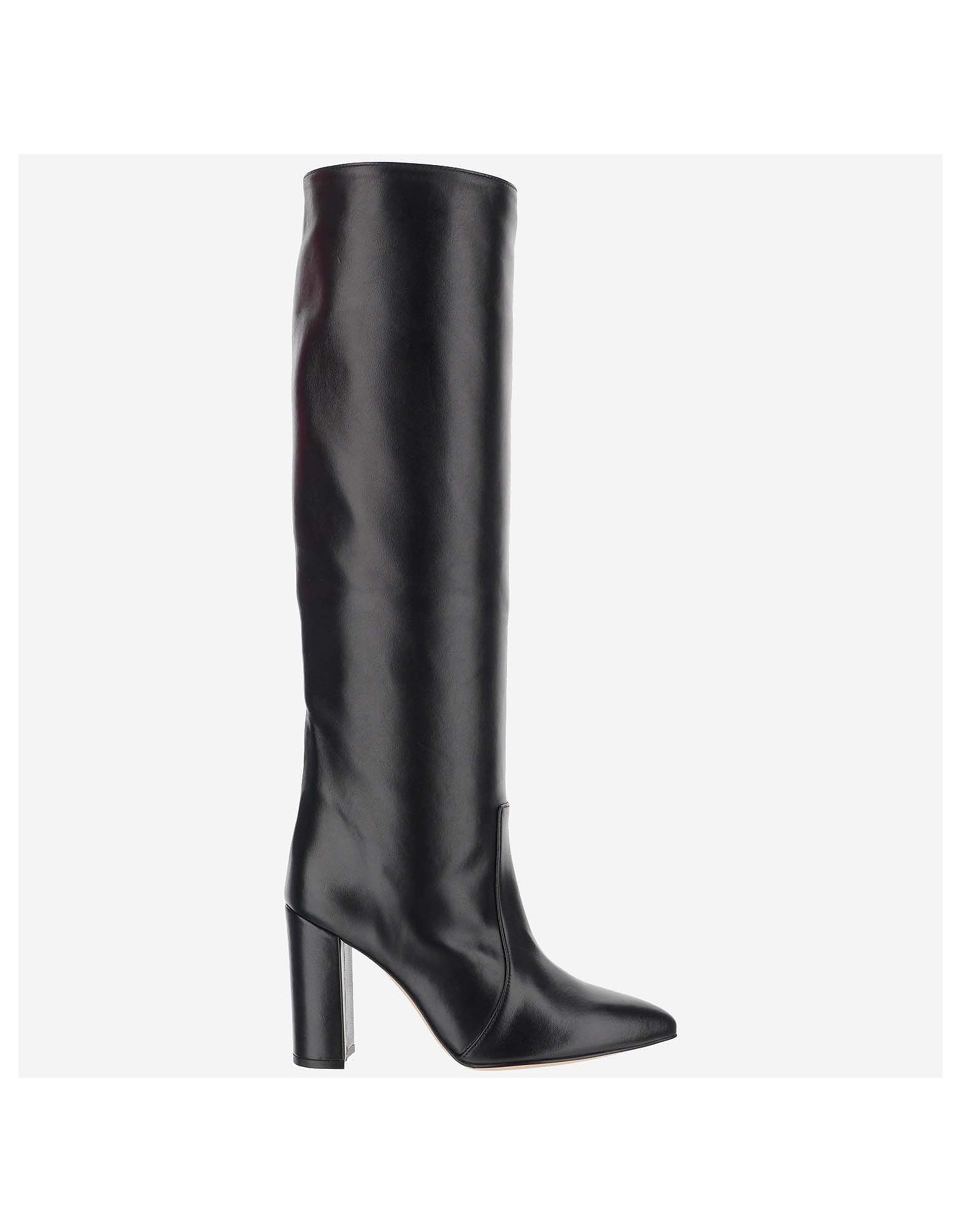 Paris Texas Designer Shoes, Black Ankle Boots