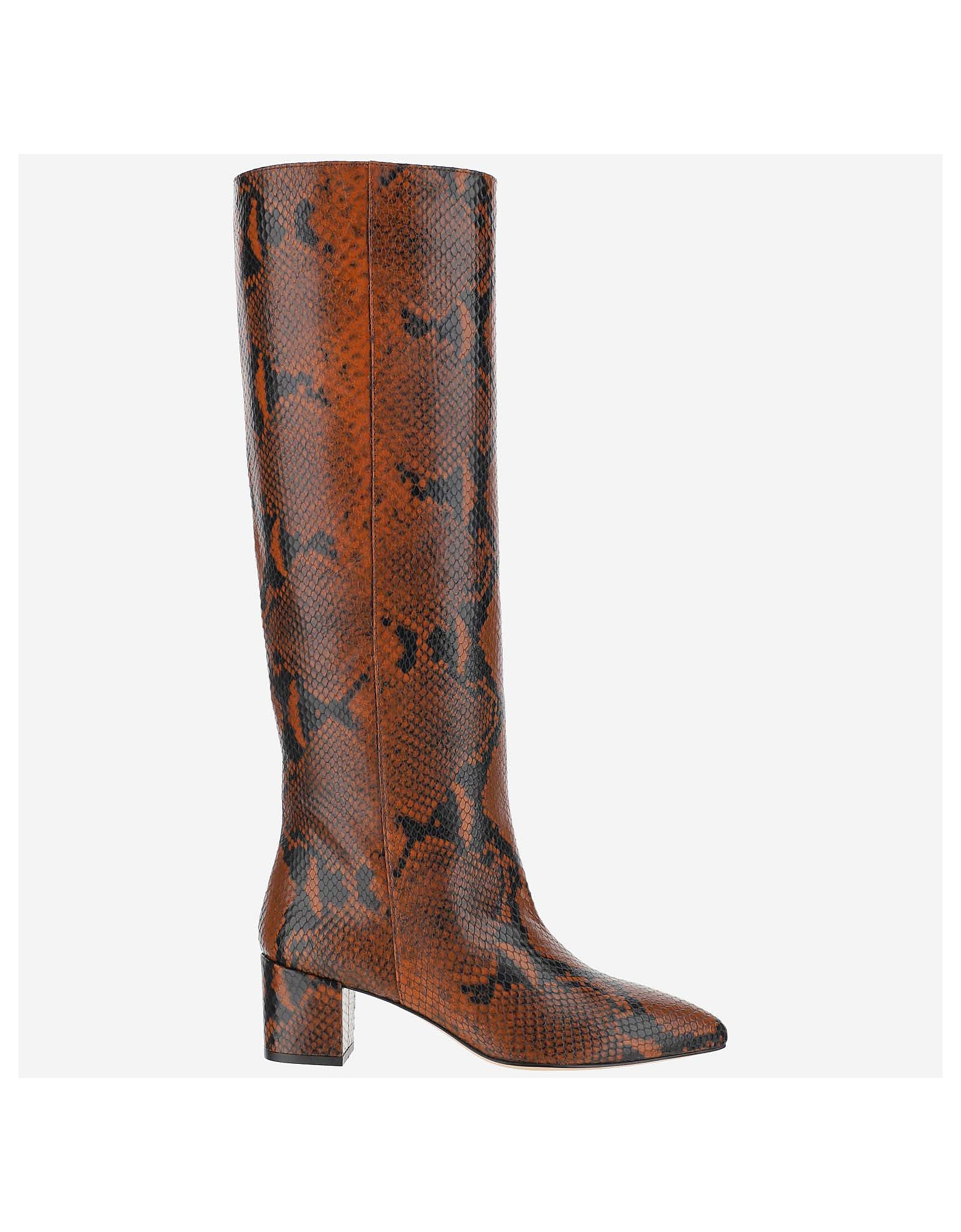 Paris Texas Designer Shoes, Brown Ankle Boots