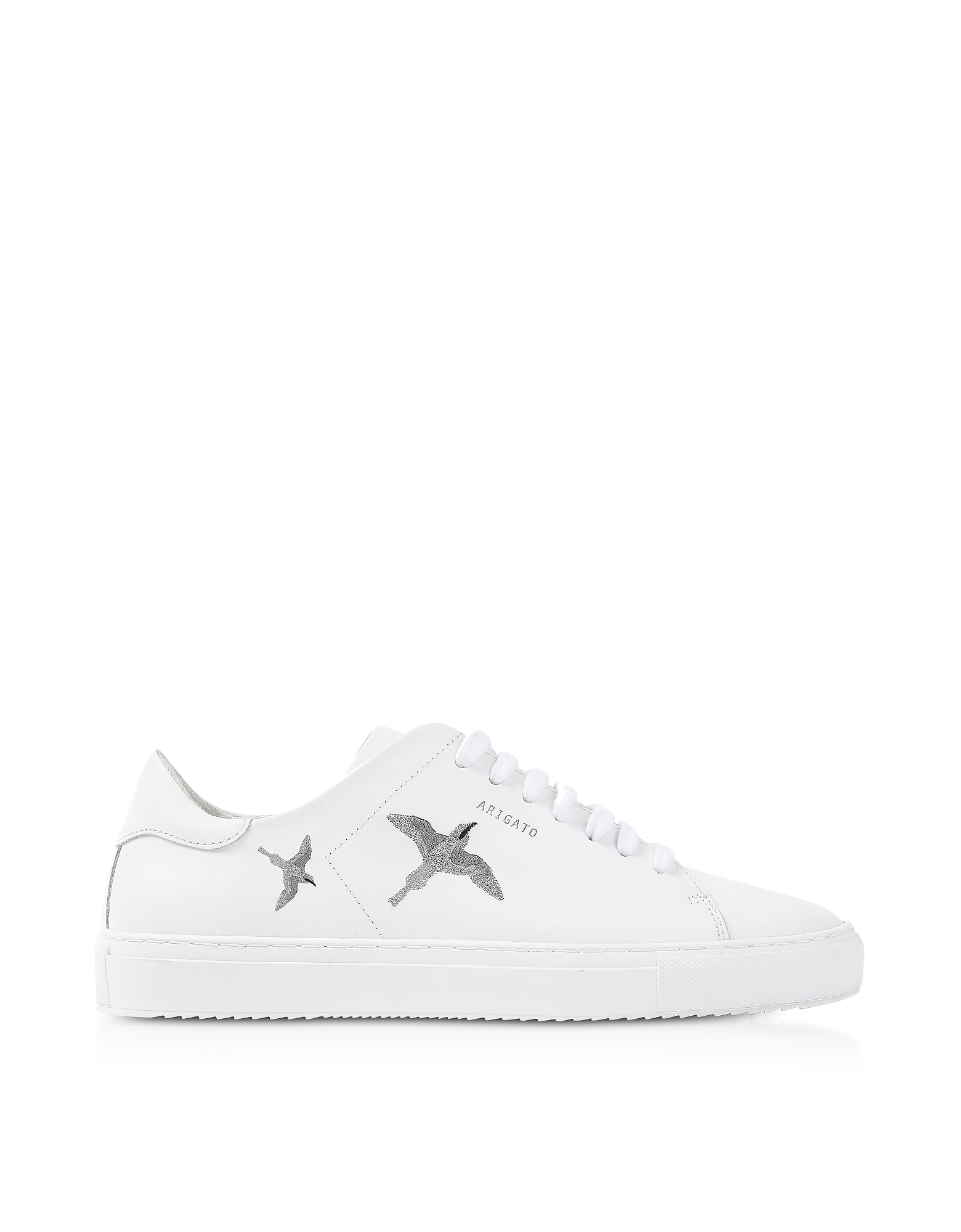 Clean 90 Bird White & Silver Leather Women's Sneakers