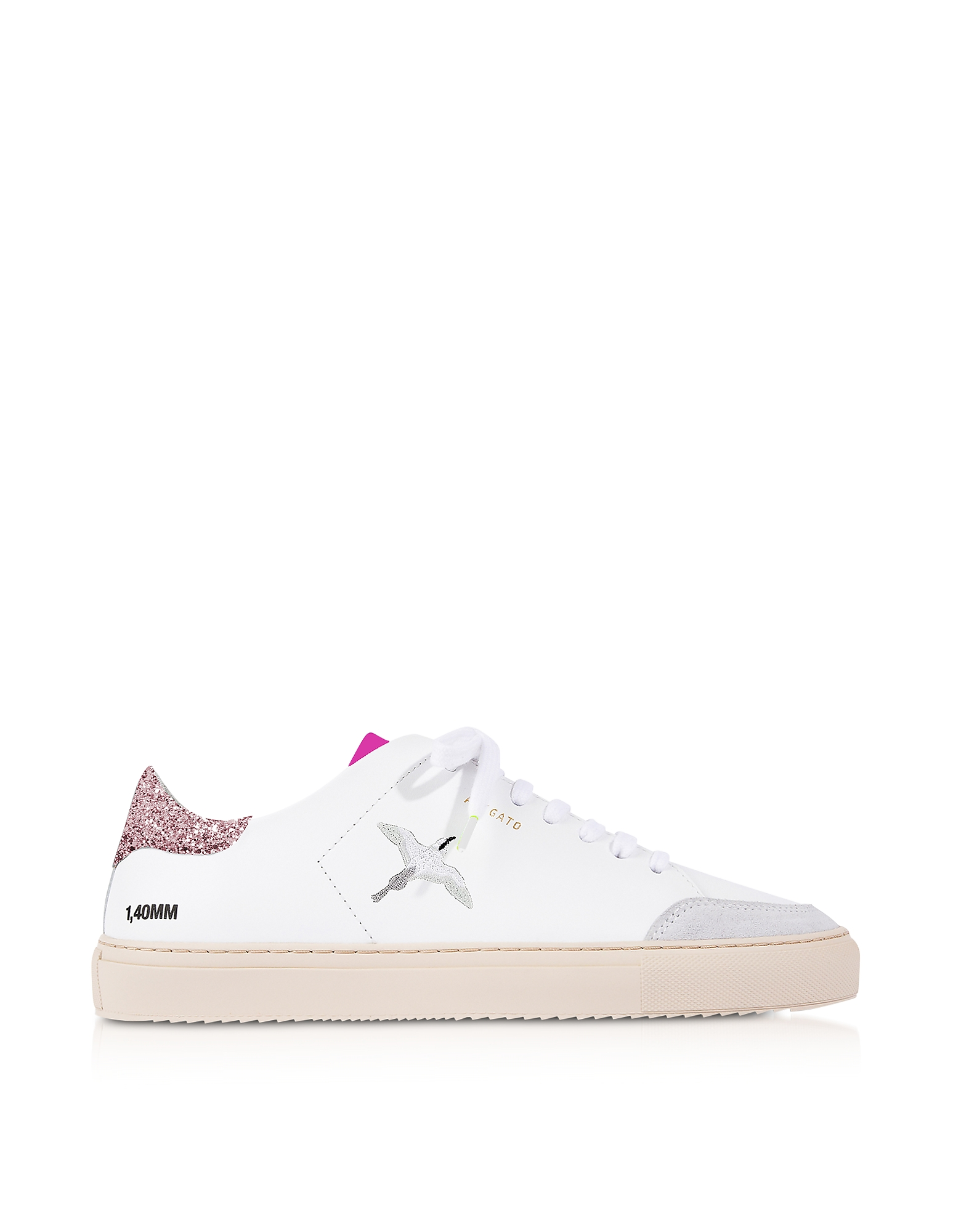 Clean 90 Triple Bird White, Pink Glitter & Fuchsia Leather Women's Sneakers