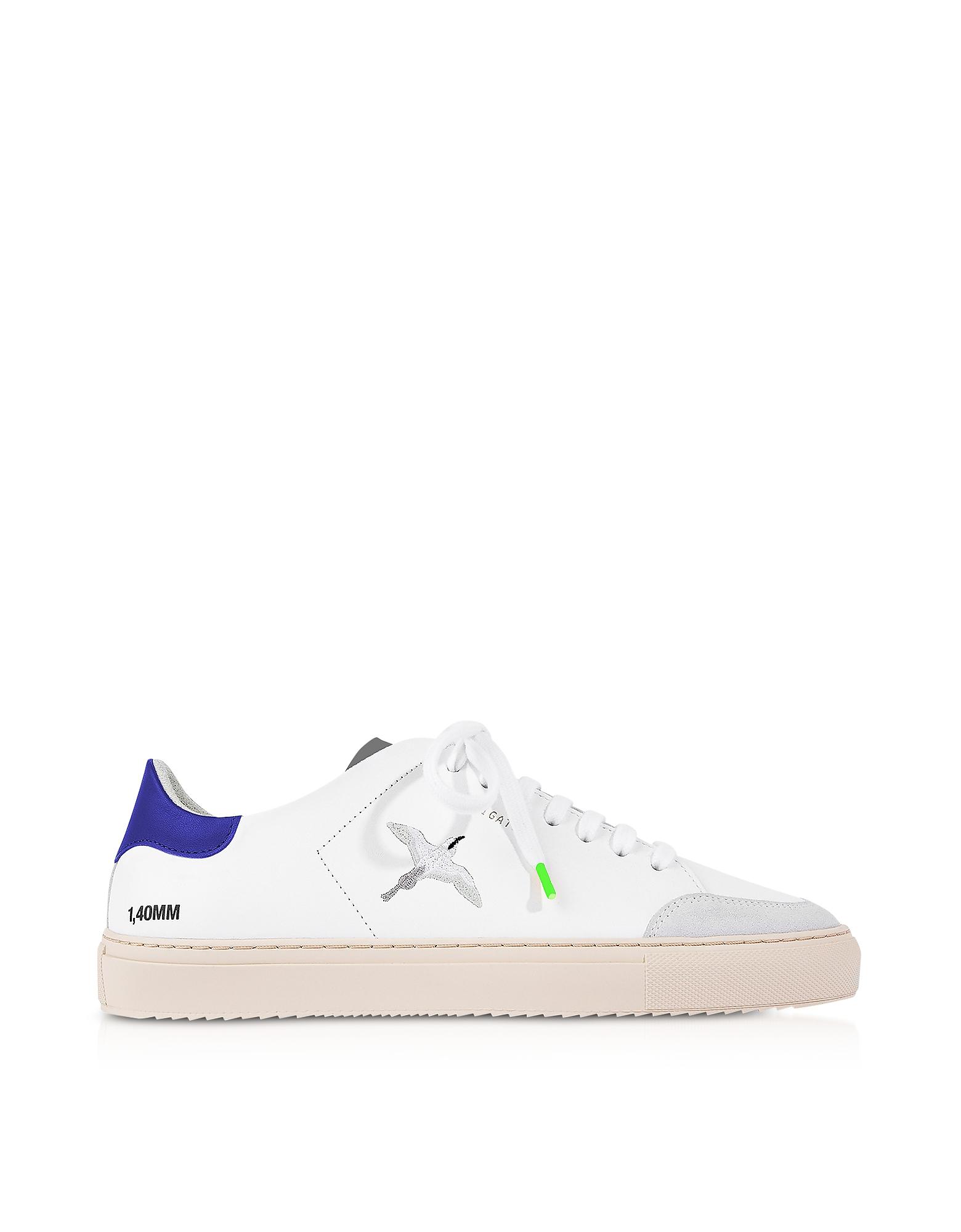 Clean 90 Triple Bird White, Cobalt Blue, Grey Leather Men's Sneakers