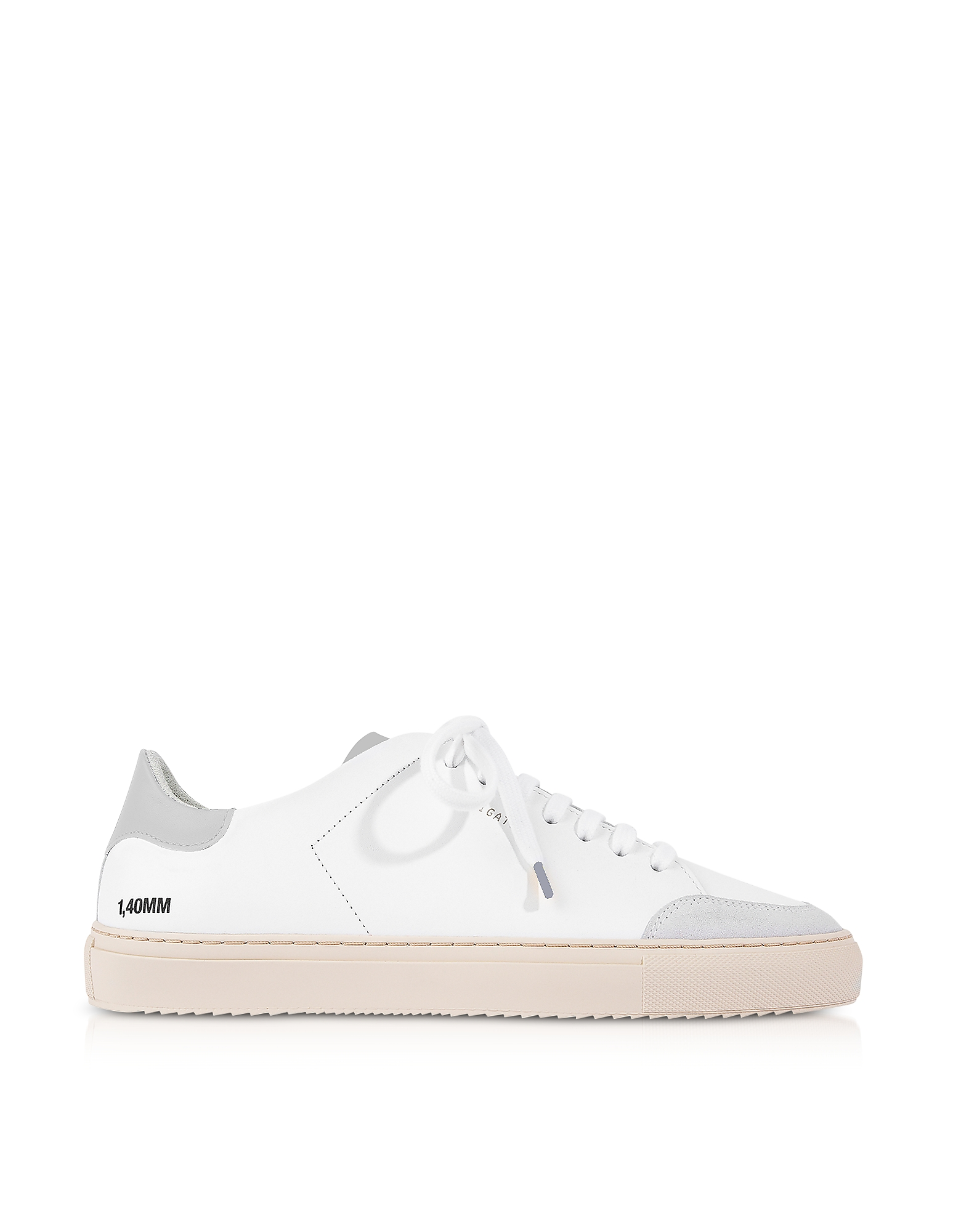 Clean 90 Triple White Grey Leather Men's Sneakers