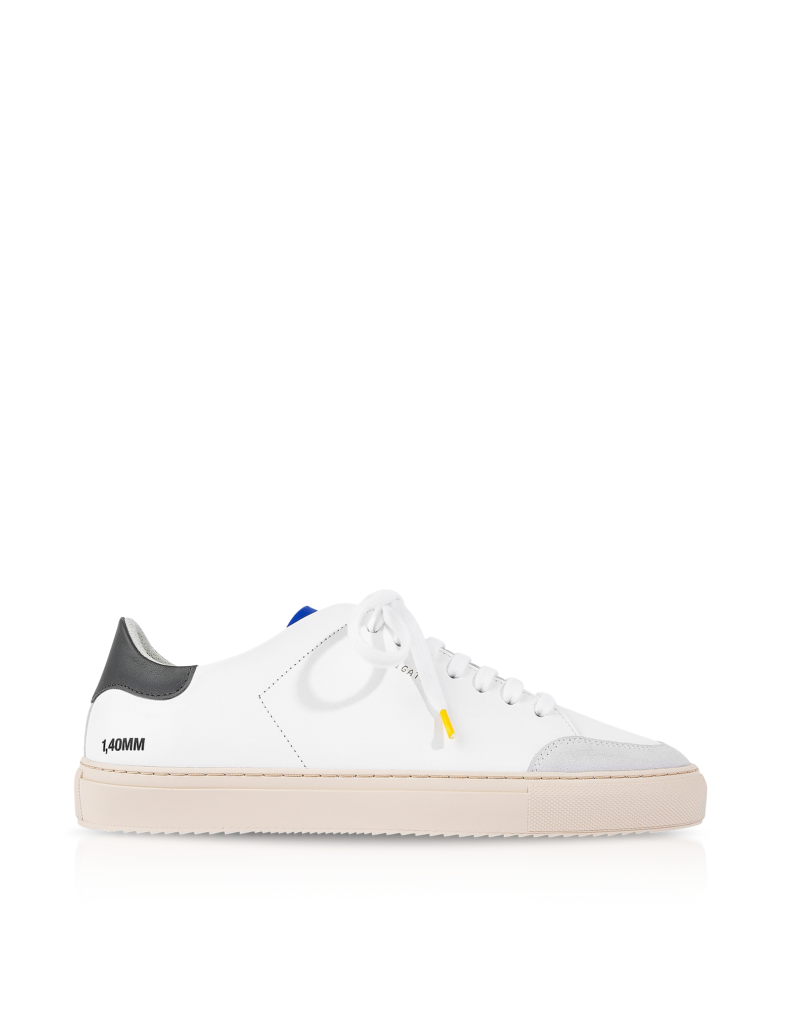Clean 90 Triple Green, Blue,Yellow Leather Men's Sneakers, White