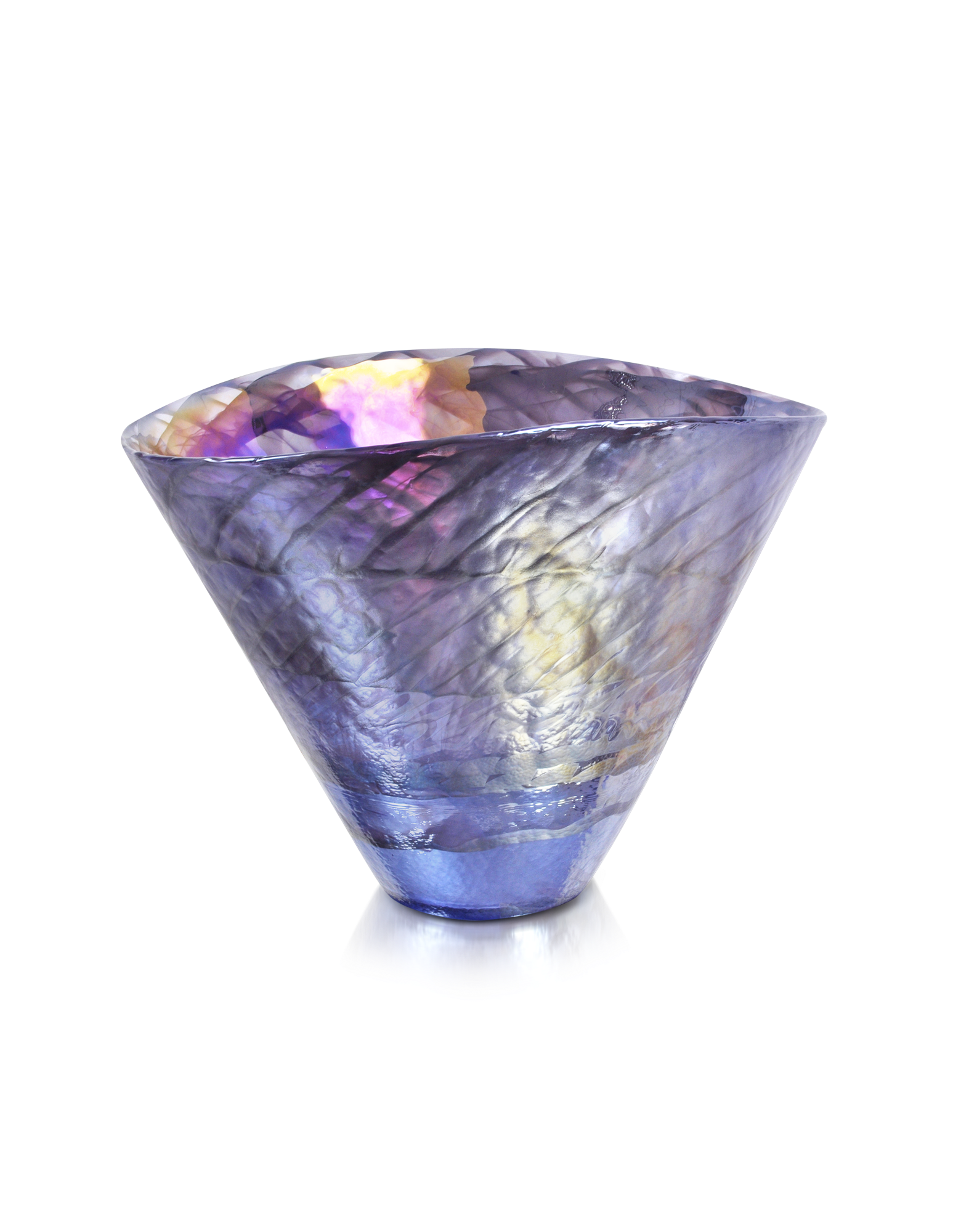 Image of Agadir - Purple Murano Glass Vase