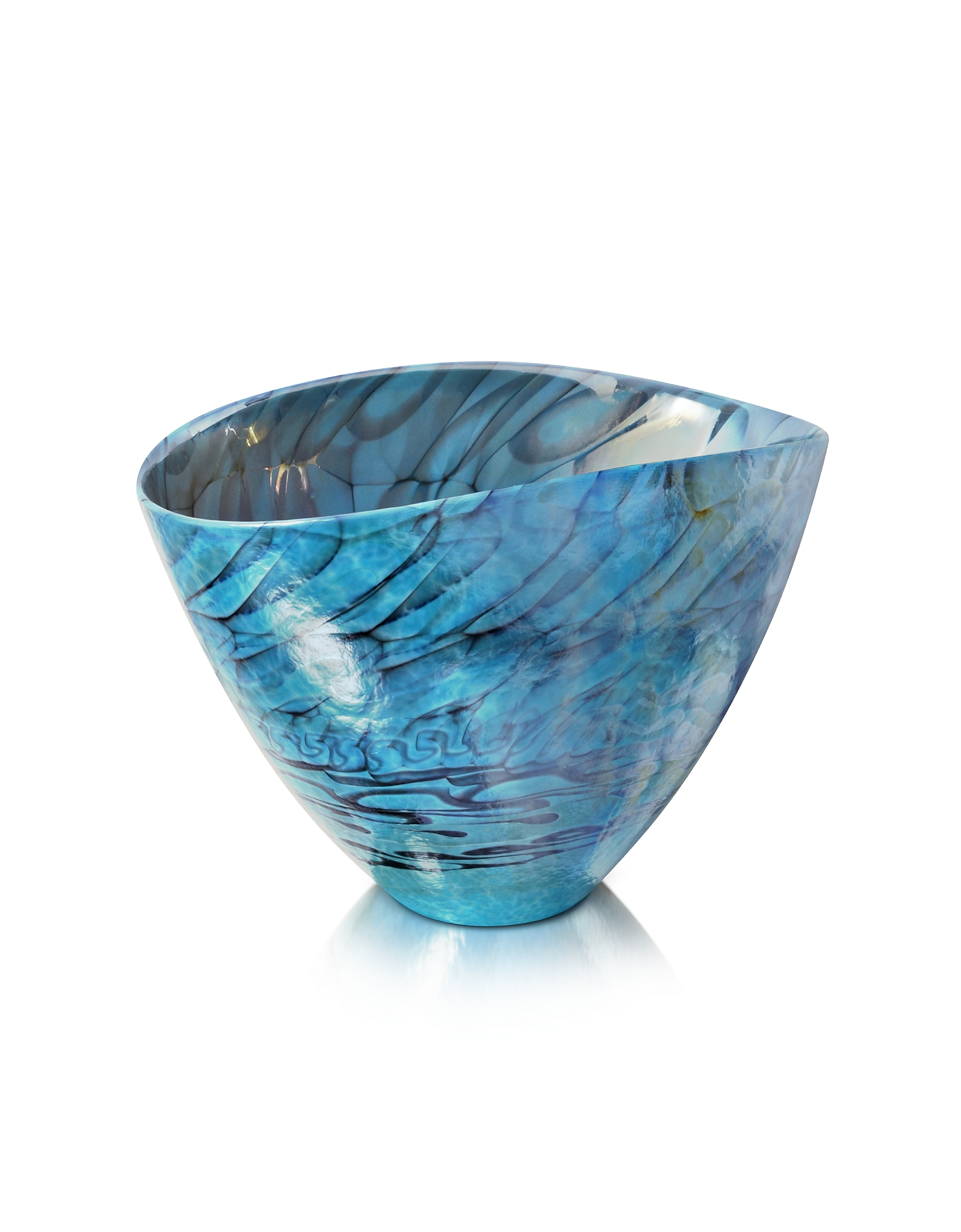 Yalos Murano Decor & Lighting, Belus - Turquoise Murano Glass Vase