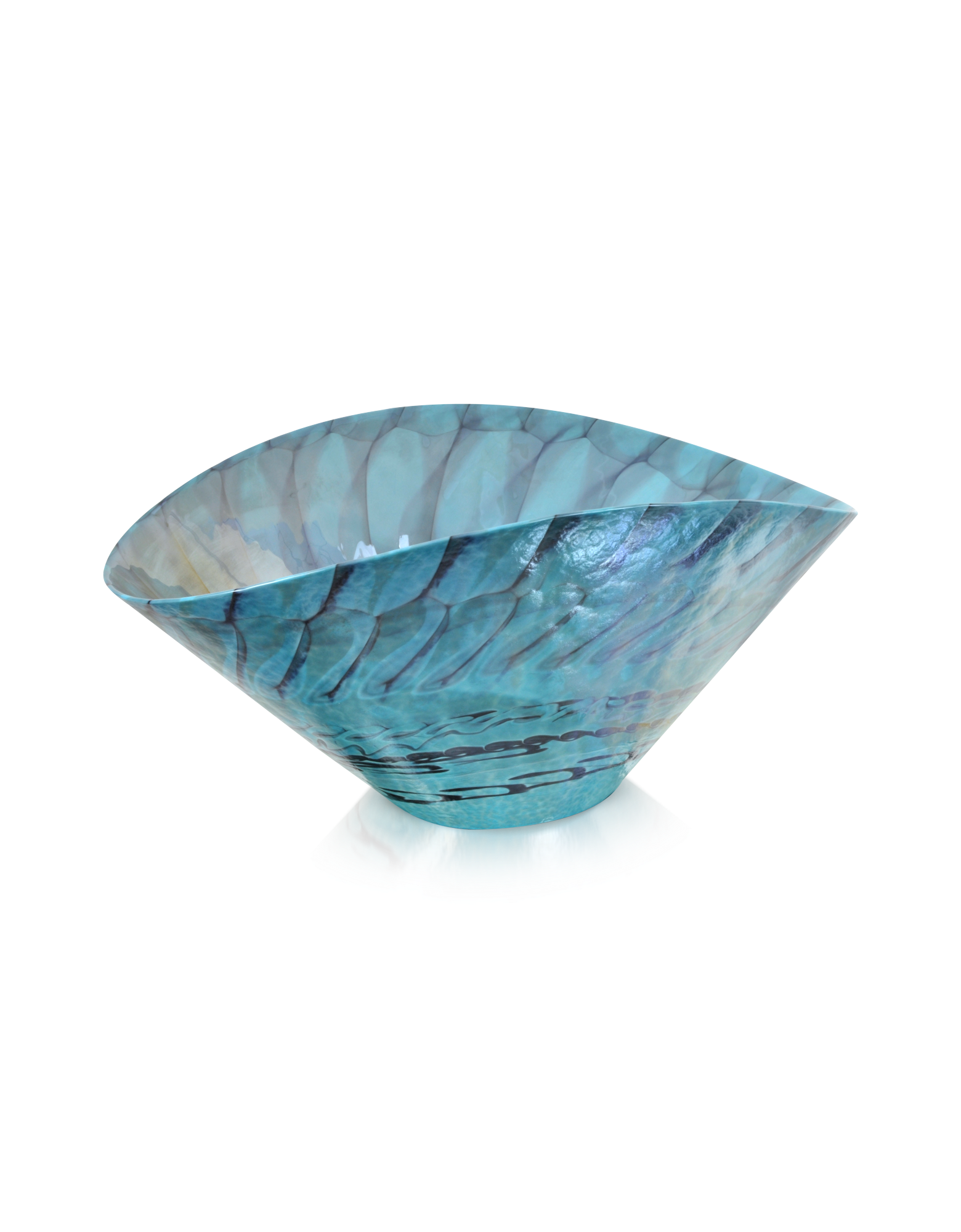 Image of Belus - Turquoise Murano Glass Centerpiece
