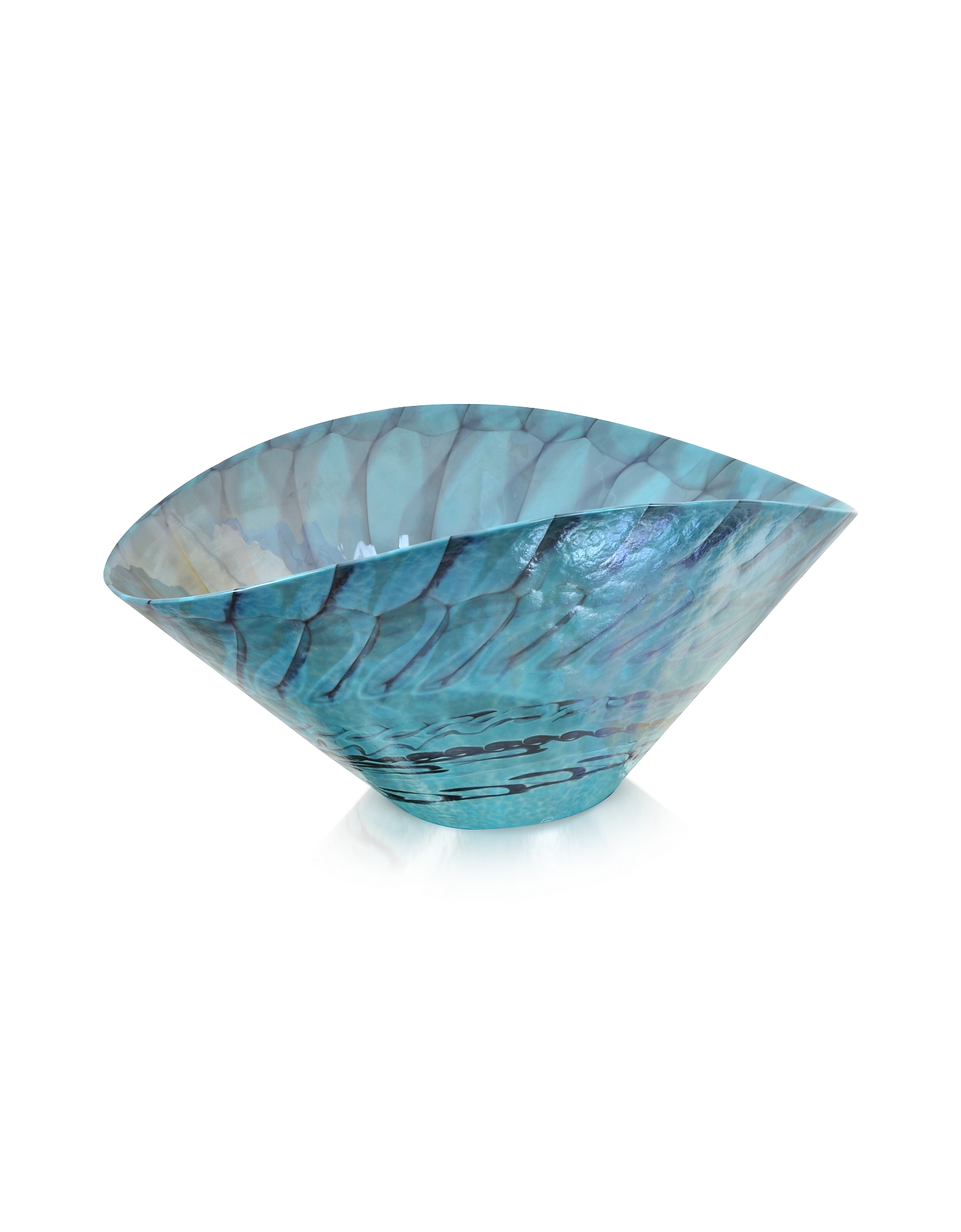 Yalos Murano Decor & Lighting, Belus - Turquoise Murano Glass Centerpiece