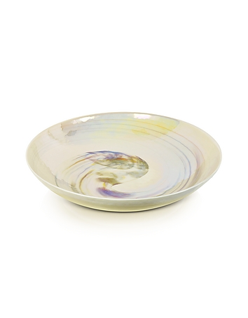 Yalos Murano - Fossili - Ivory Mother of Pearl Effect Murano Glass Centerpiece