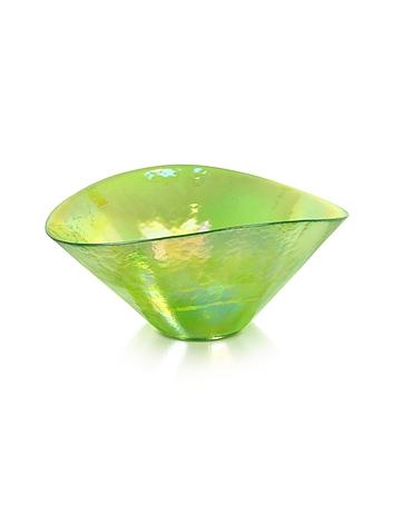 Yalos Murano - Tango - Green Swirl Murano Glass Bowl