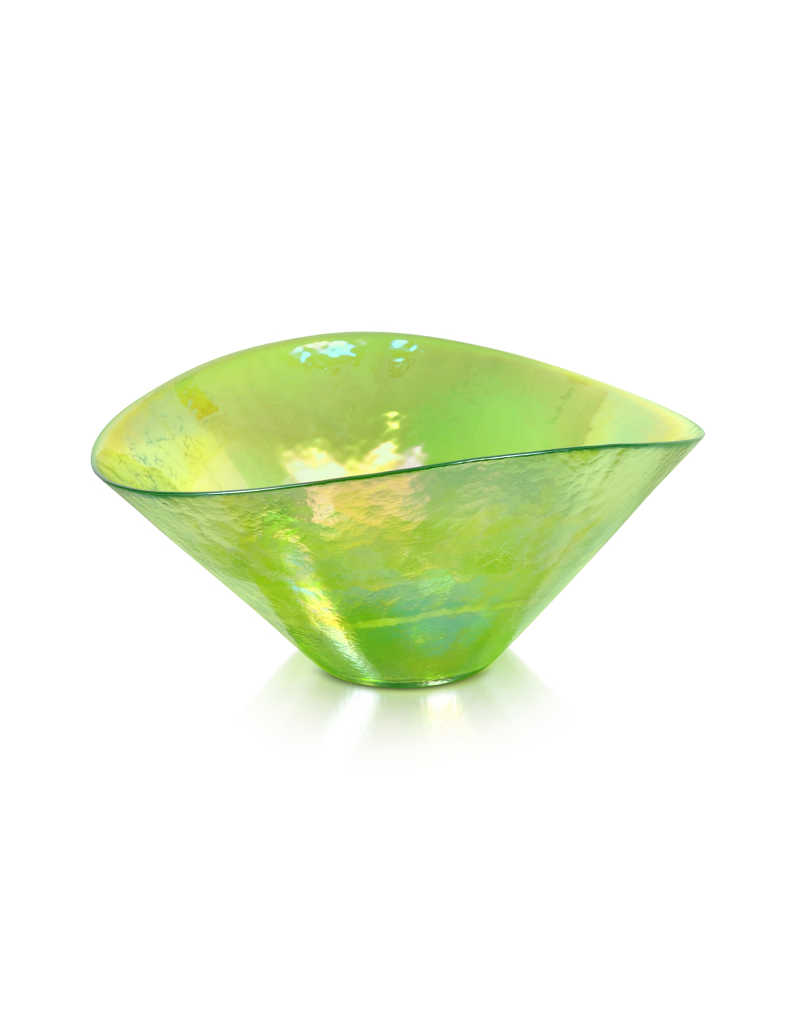 Yalos Murano Designer Decor  Lighting Tango  Green Swirl Murano Glass Bowl