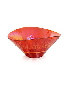 Tango - Orange Swirl Murano Glass Bowl - Yalos Murano