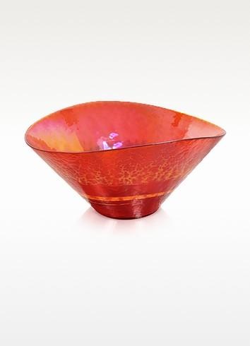 Tango - Orange Swirl Murano Glass Bowl - Yalos Murano