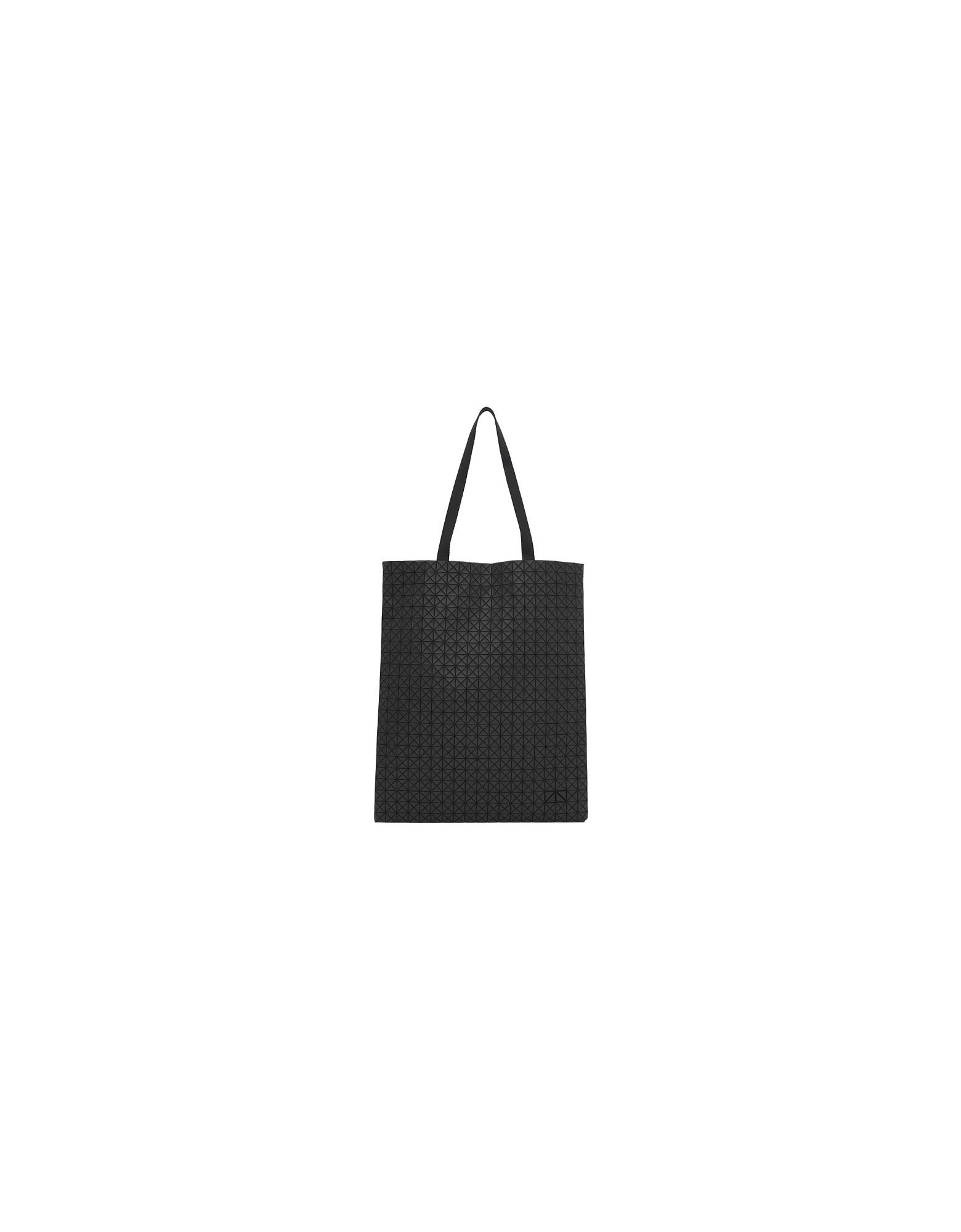 Issey Miyake Designer Handbags, Black Crispy Carry Tote