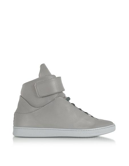 Image of Ylati Virgilio Sneakers da Uomo in Nappa Traforata Cement Grey