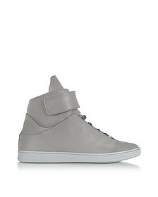 Virgilio Sneakers da Uomo in Nappa Traforata Cement Grey - Ylati